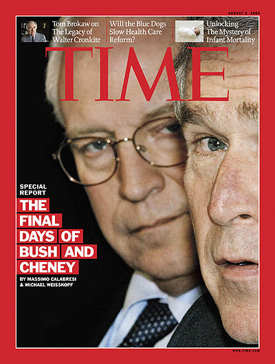 Dick Cheney and George W. Bush on the Aug. 3, 2009, cover of TIME