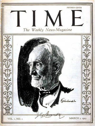 The first cover of TIME, from Mar. 3, 1923
