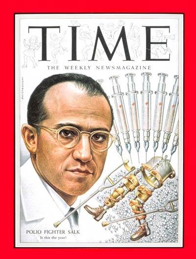 Jonas Salk on the Mar. 29, 1954, cover of TIME