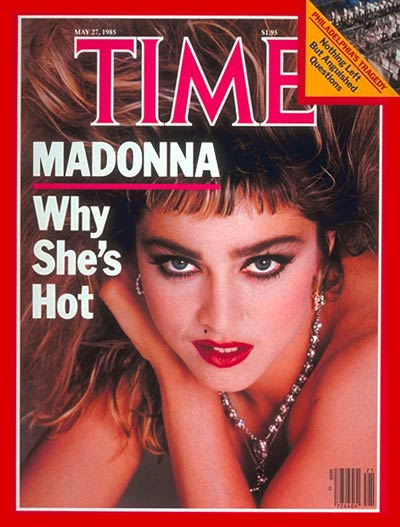 Madonna on the May 27, 1985, cover of TIME