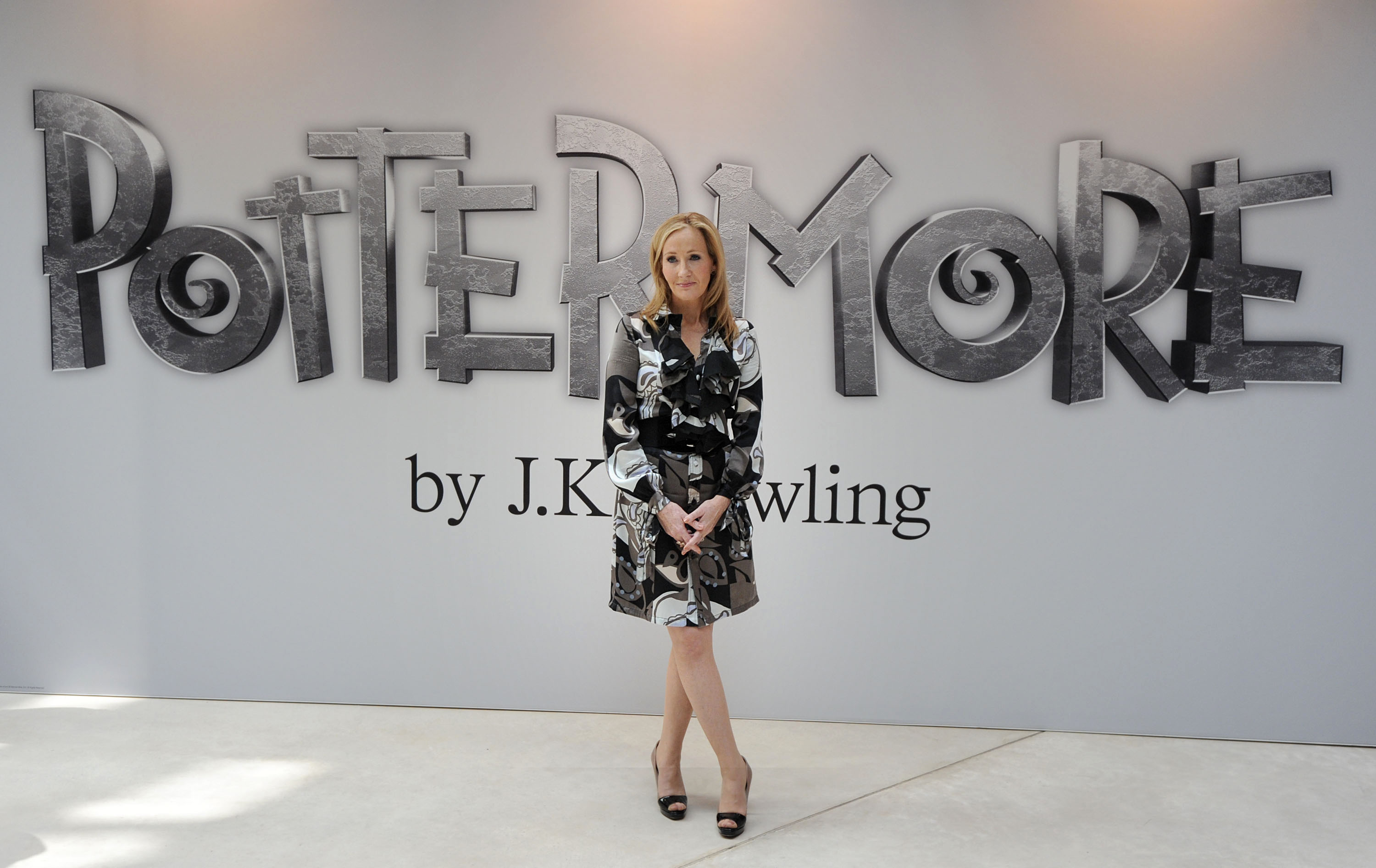 Harry Potter creator J.K. Rowling during the launch of Pottermore in central London on June 23, 2011.