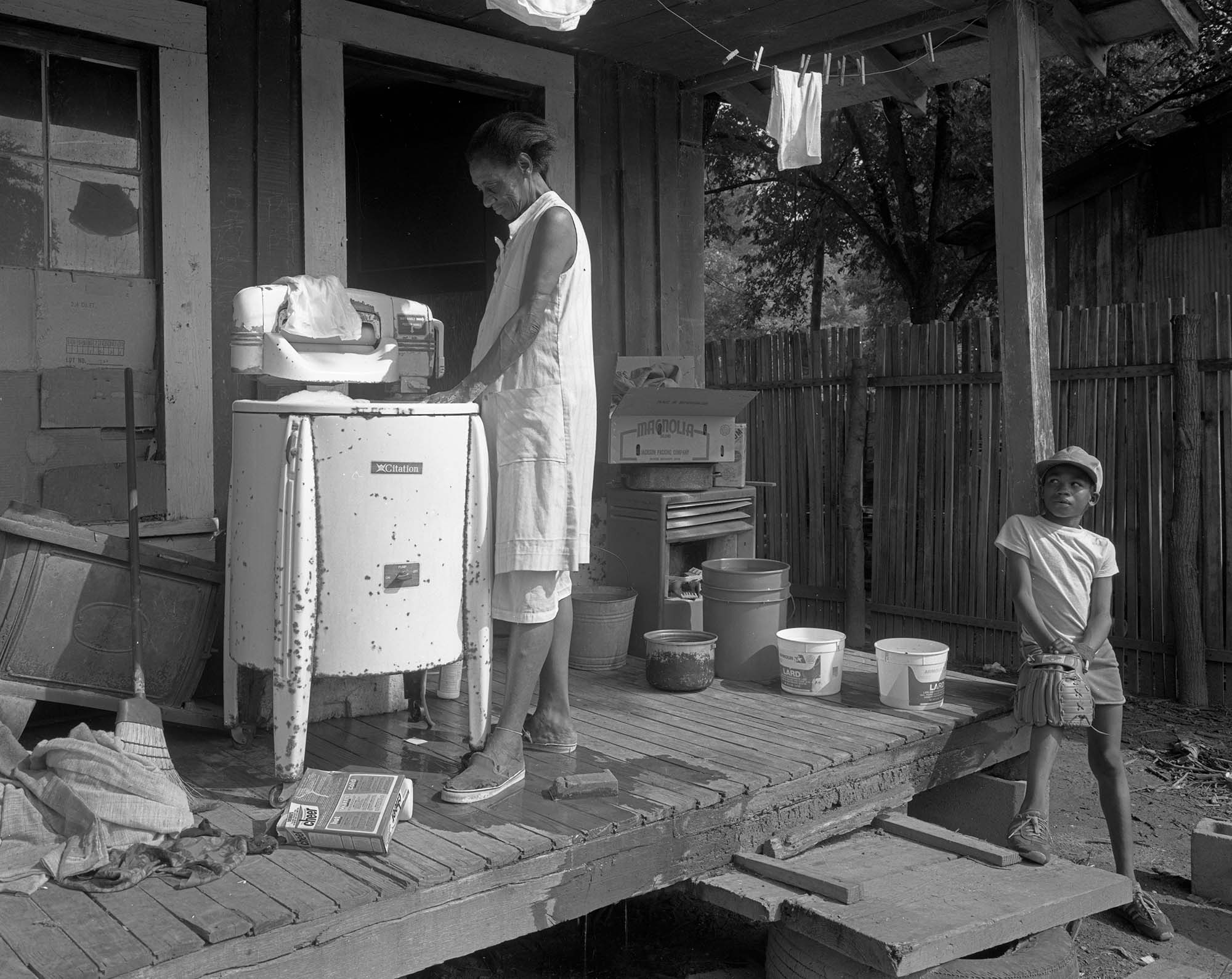 Washing_machine and baseball glove, Vicksburg, Ms.,1984.