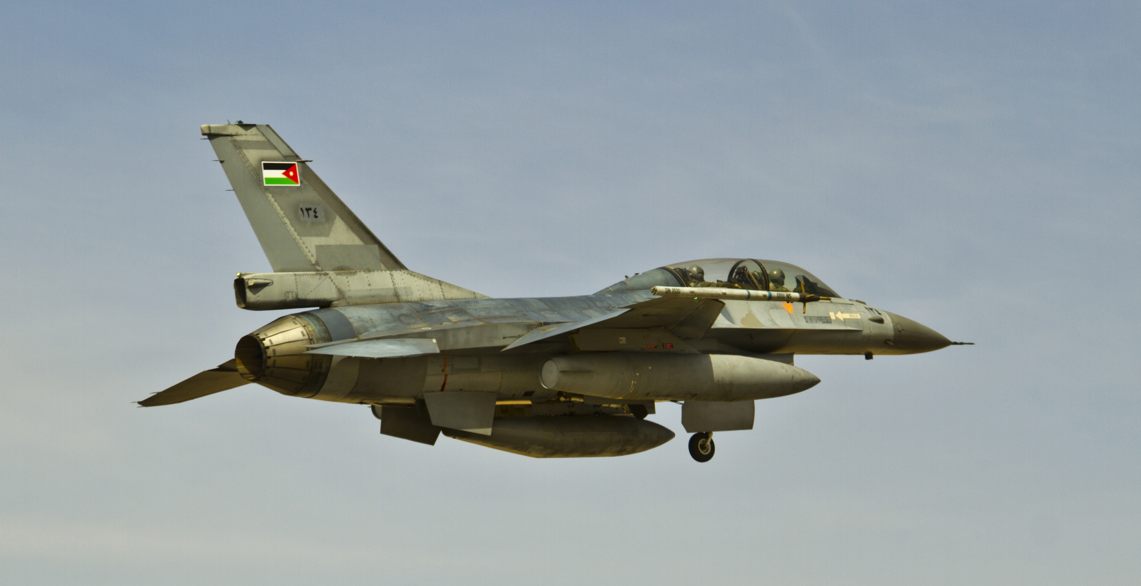 Up to 20 Royal Jordanian Air Force F-16s like this one attacked ISIS targets on Thursday, reportedly killing 55 militants.