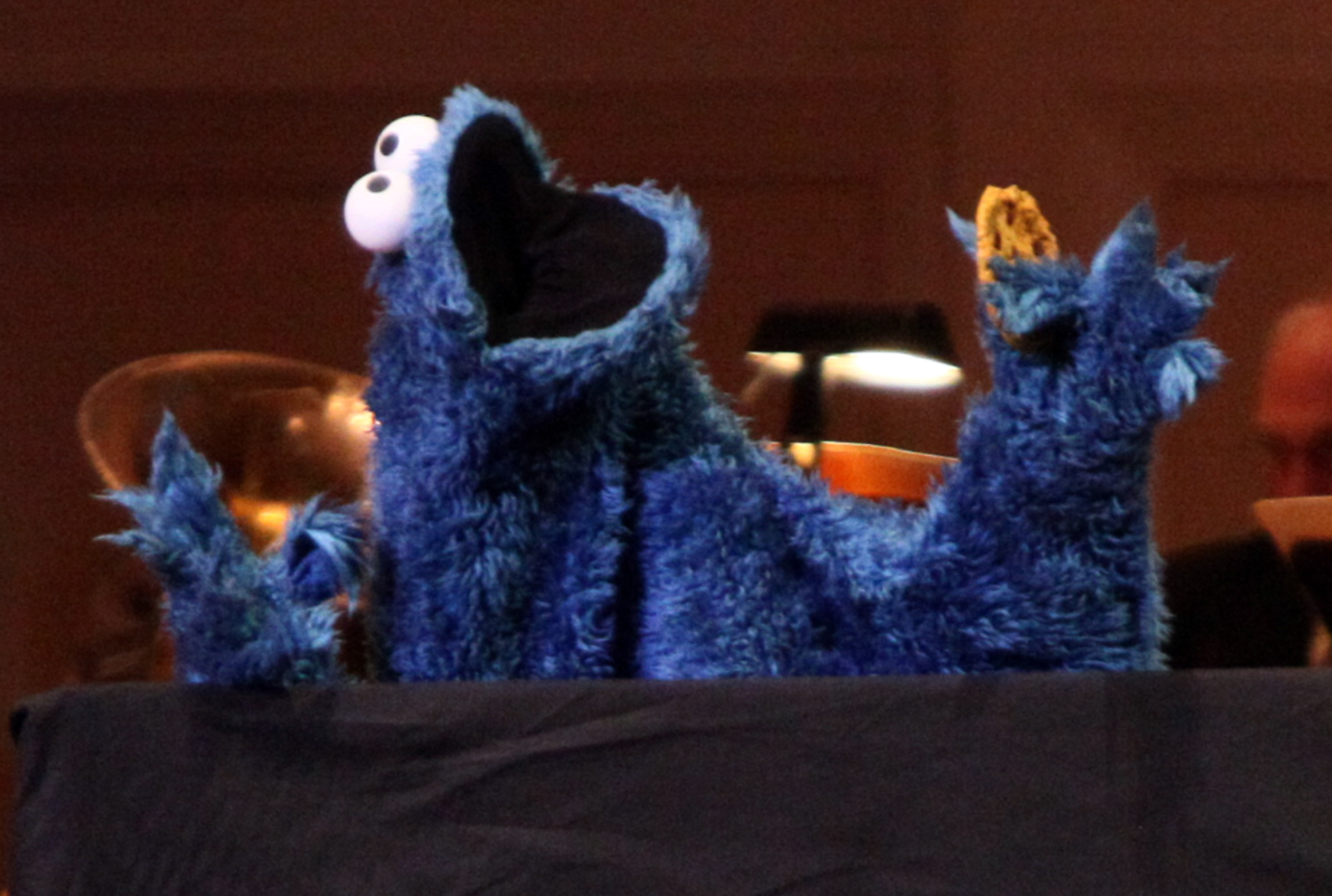 Cookie Monster performs during The New York Pops Present  Jim Henson's Musical World  at Carnegie Hall on April 14, 2012 in New York City.