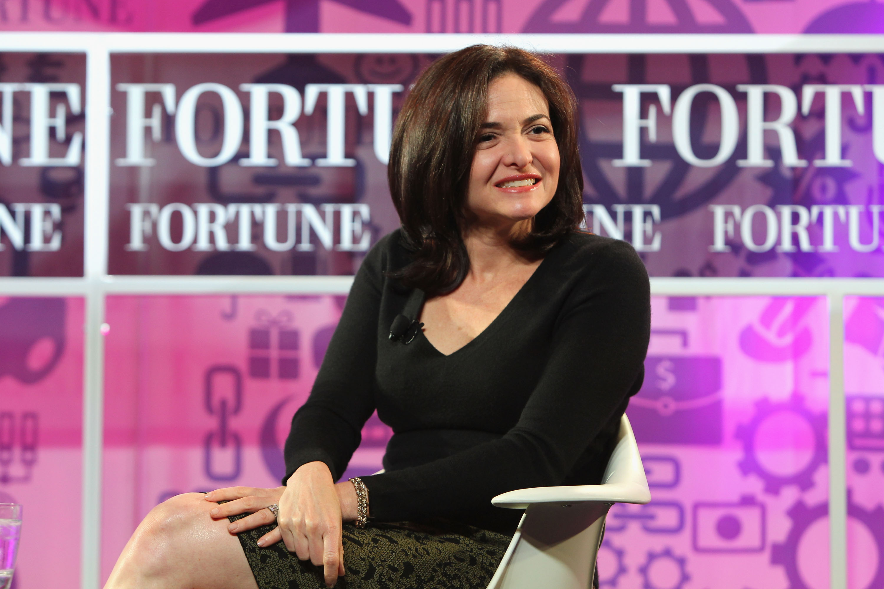 Chief operating officer of Facebook Sheryl Sandberg speaks onstage at the FORTUNE Most Powerful Women Summit on Oct. 16, 2013 in Washington D.C.