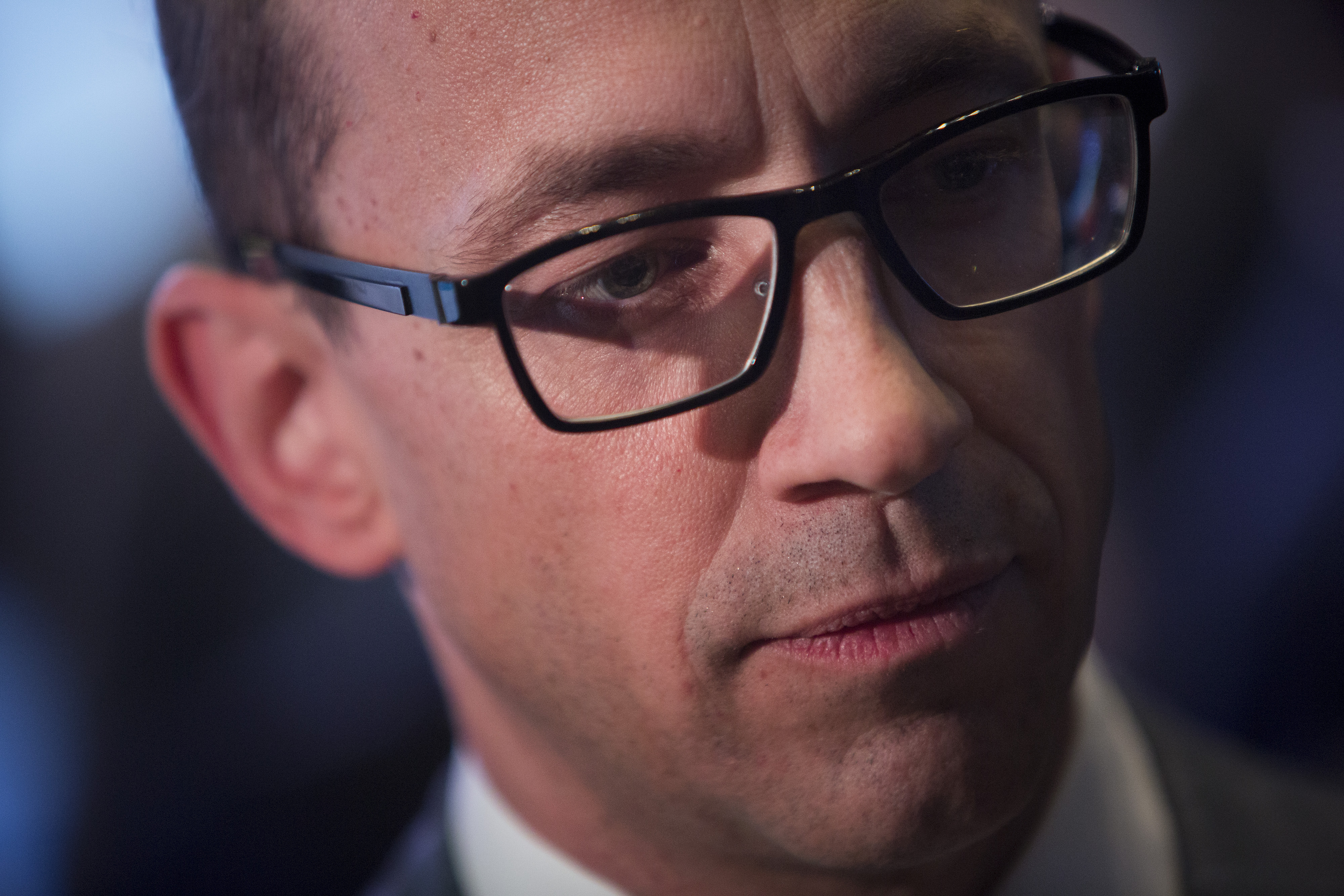 Richard  Dick  Costolo, chief executive officer of Twitter Inc., speaks on the floor of the New York Stock Exchange in New York, U.S., on Thursday, Nov. 7, 2013.