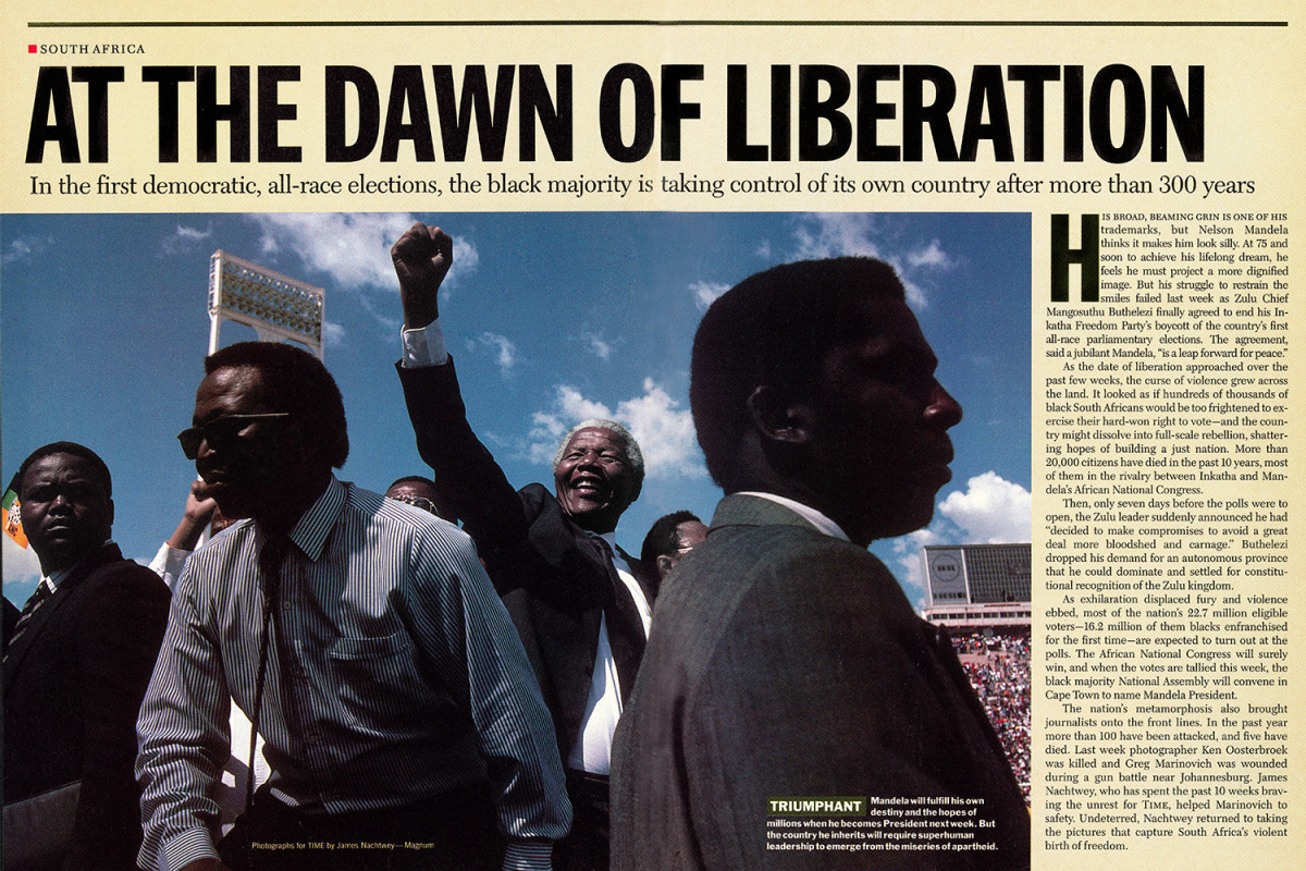 """From """"At the Dawn of Liberation."""" May 2, 1994 issue."""