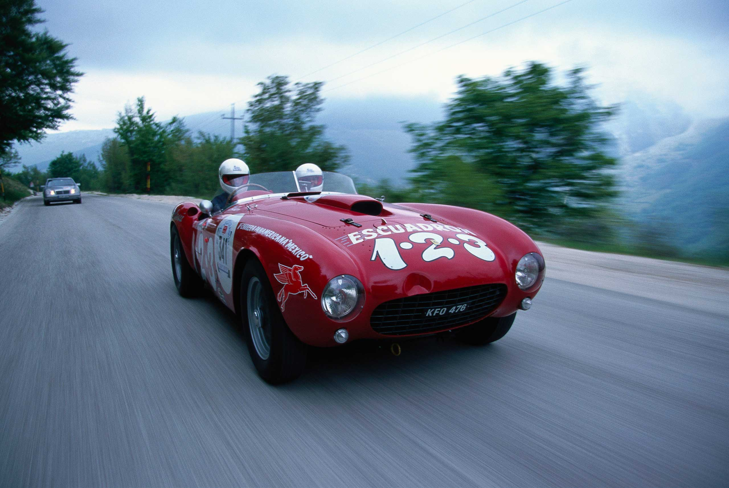 1953: The 375 Mille Miglia Spyder - Chassis was first introduced at the Paris Auto Salon.