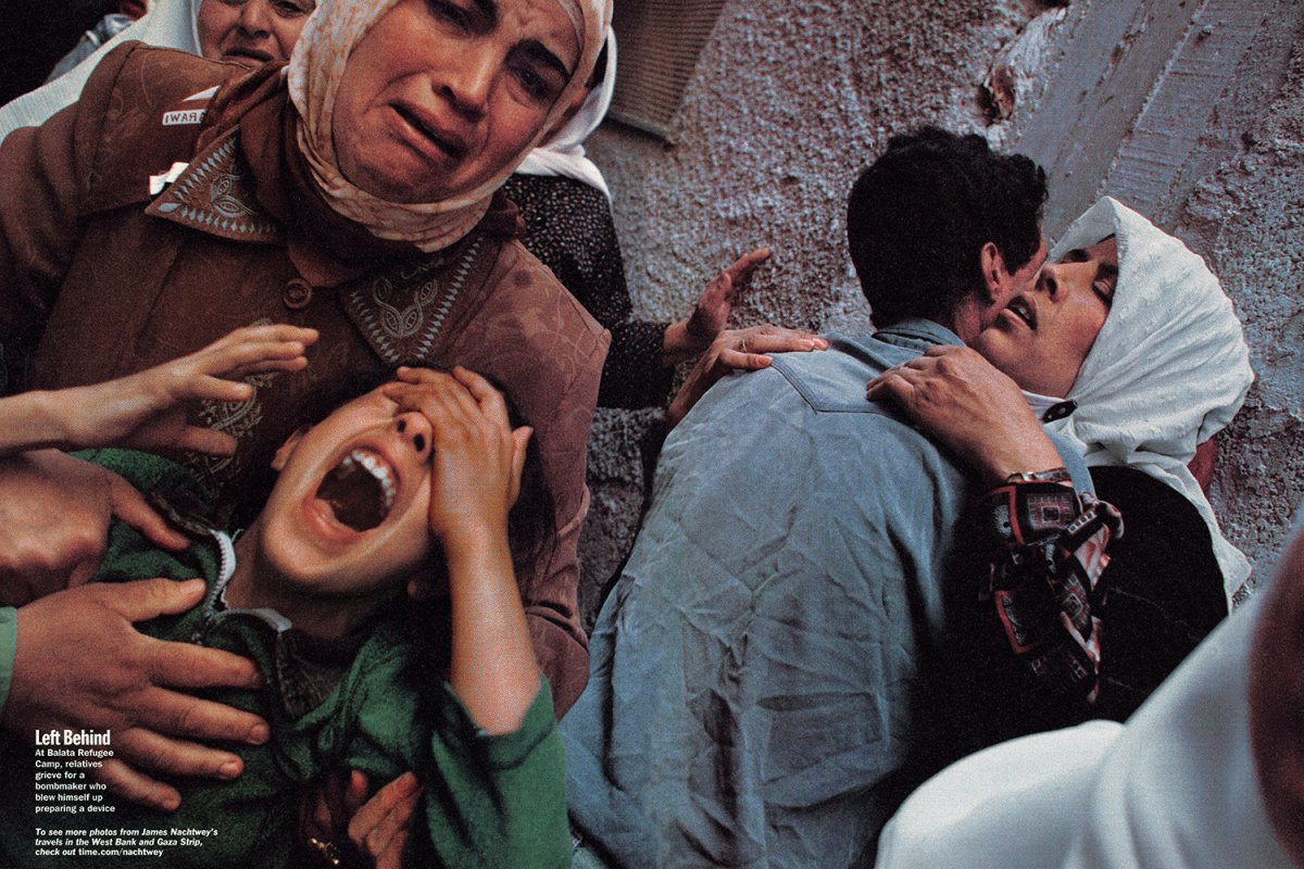 """From """"The Palestinians: An Inside Look at Life in an Embattled Society."""" August 19, 2002 issue."""