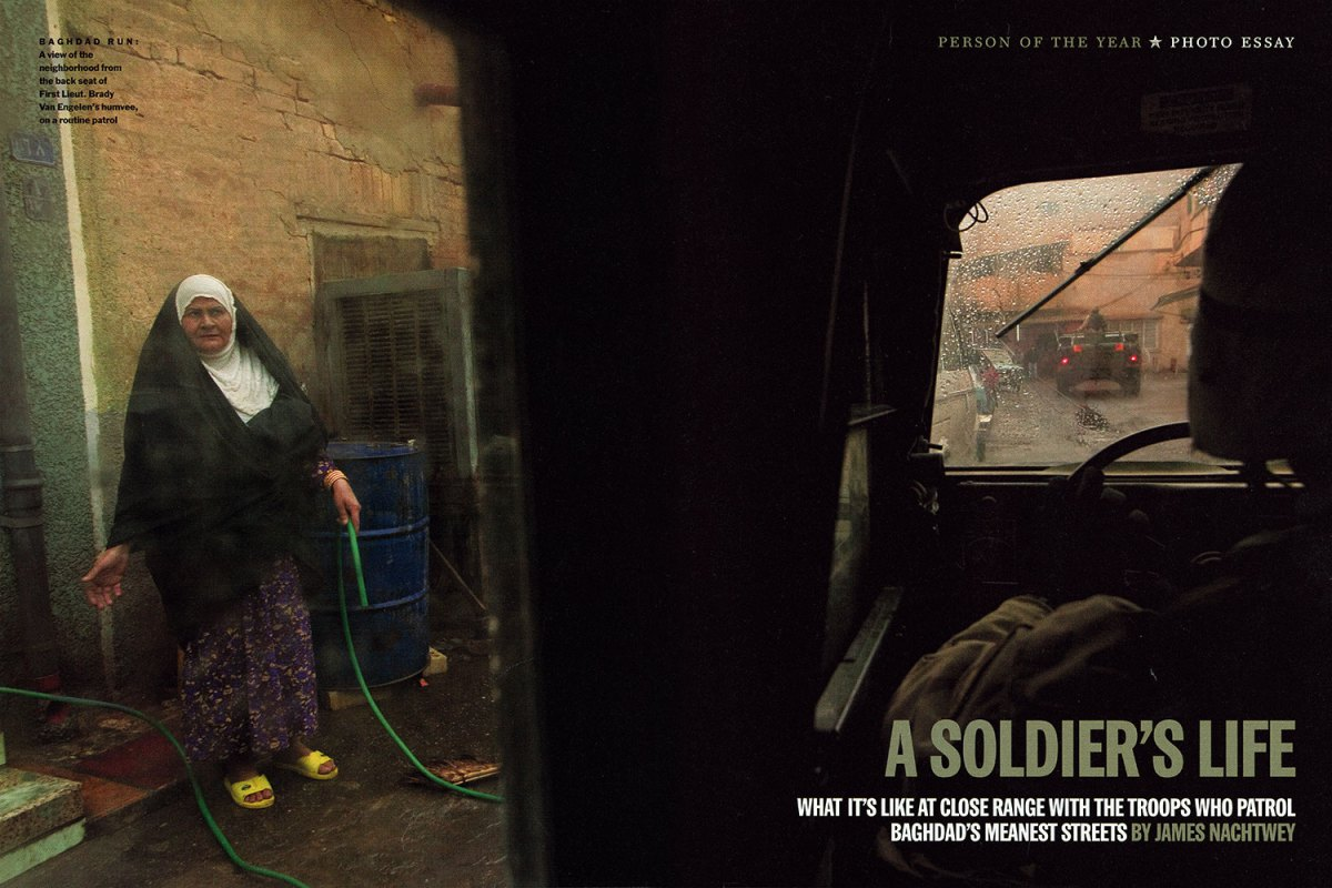 """From """"A Soldier's Life."""" December 29, 2003 / January 5, 2004 issue."""