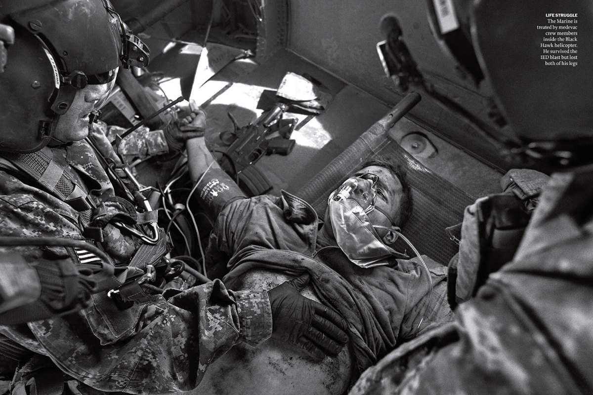 """From """"The Birds Of Hope: With A Black Hawk Medevac Unit In Afghanistan."""" January 17, 2011 issue."""