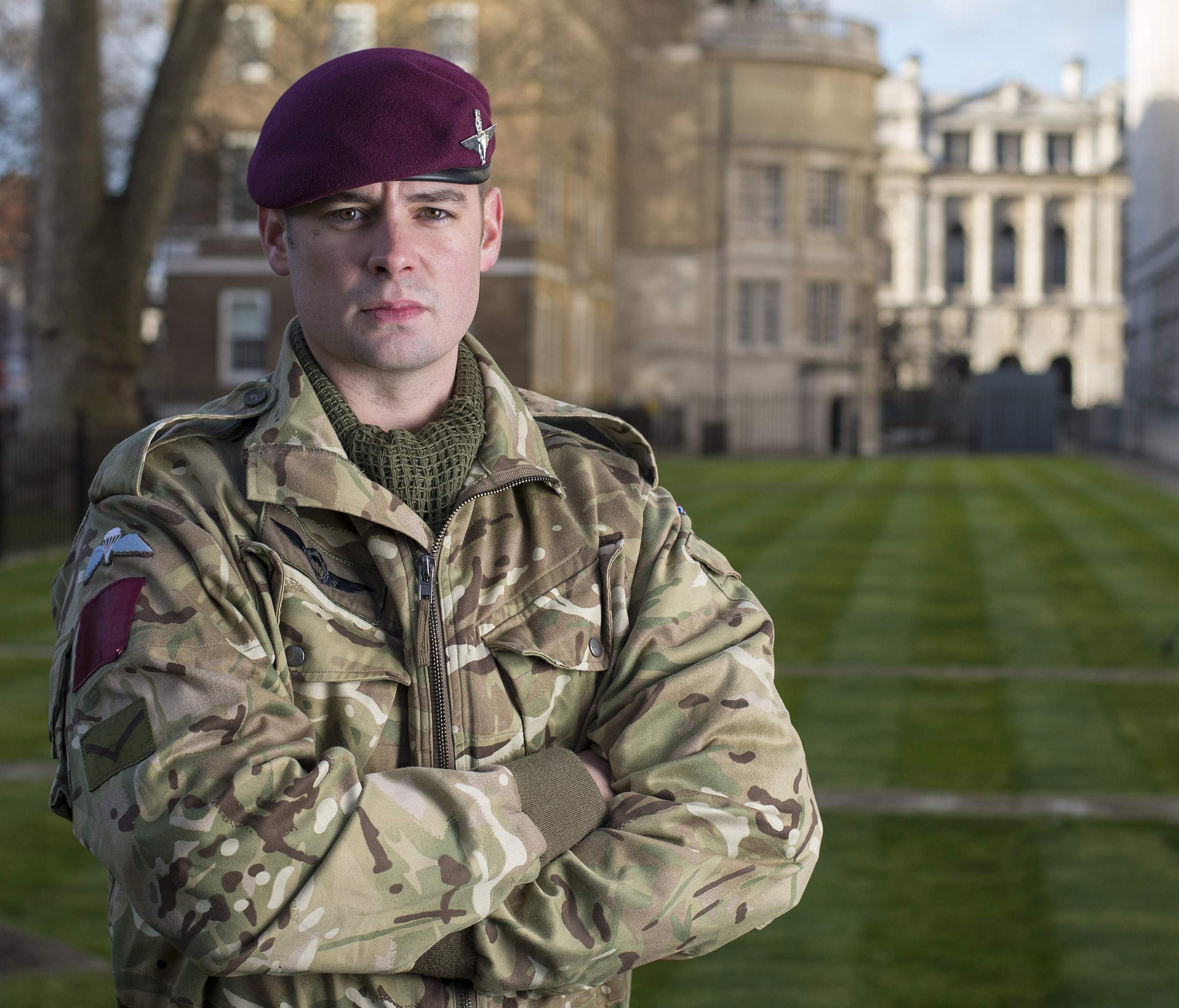 Lance Corporal Joshua Leakey of the Parachute Regiment is seen in this undated photograph released in London by Britain's Ministry of Defence February 26, 2015.