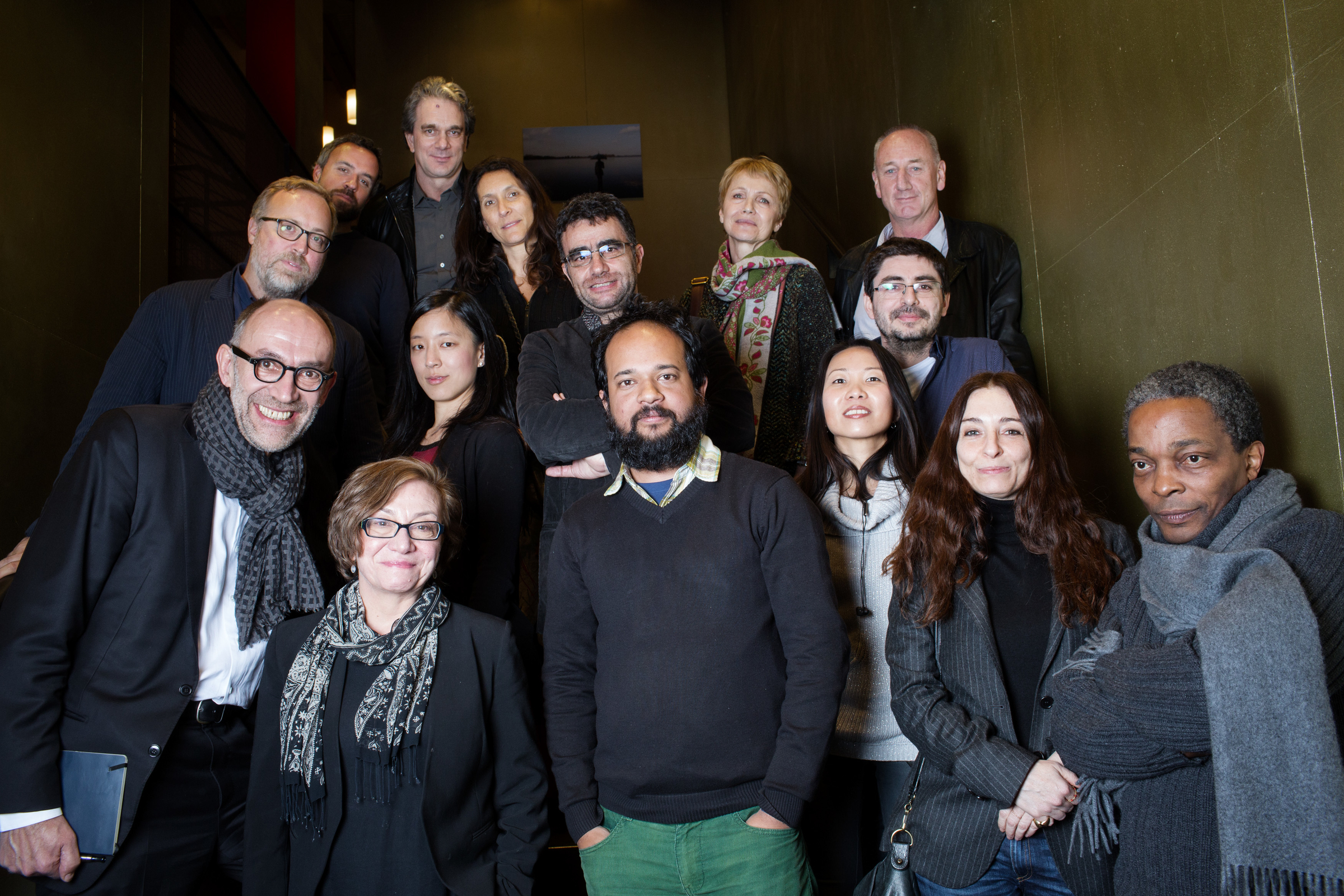 Members of the specialized and general jury for the 2015 World Press Photo Contest.