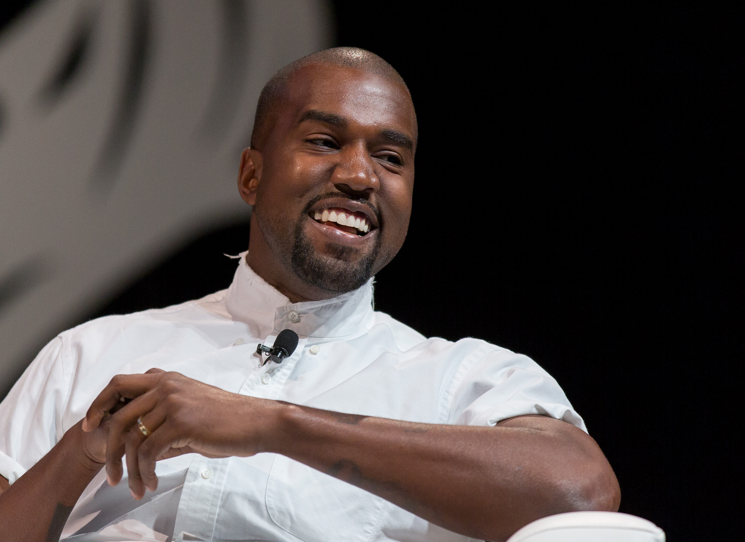 Kanye West attends the 2014 Cannes Lions on June 17, 2014 in Cannes, France.