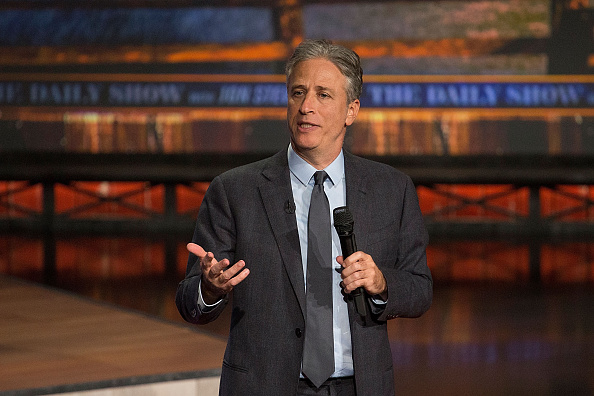 Jon Stewart covers the midterm elections at ZACH Theatre in Austin, Texas, on Oct. 28, 2014