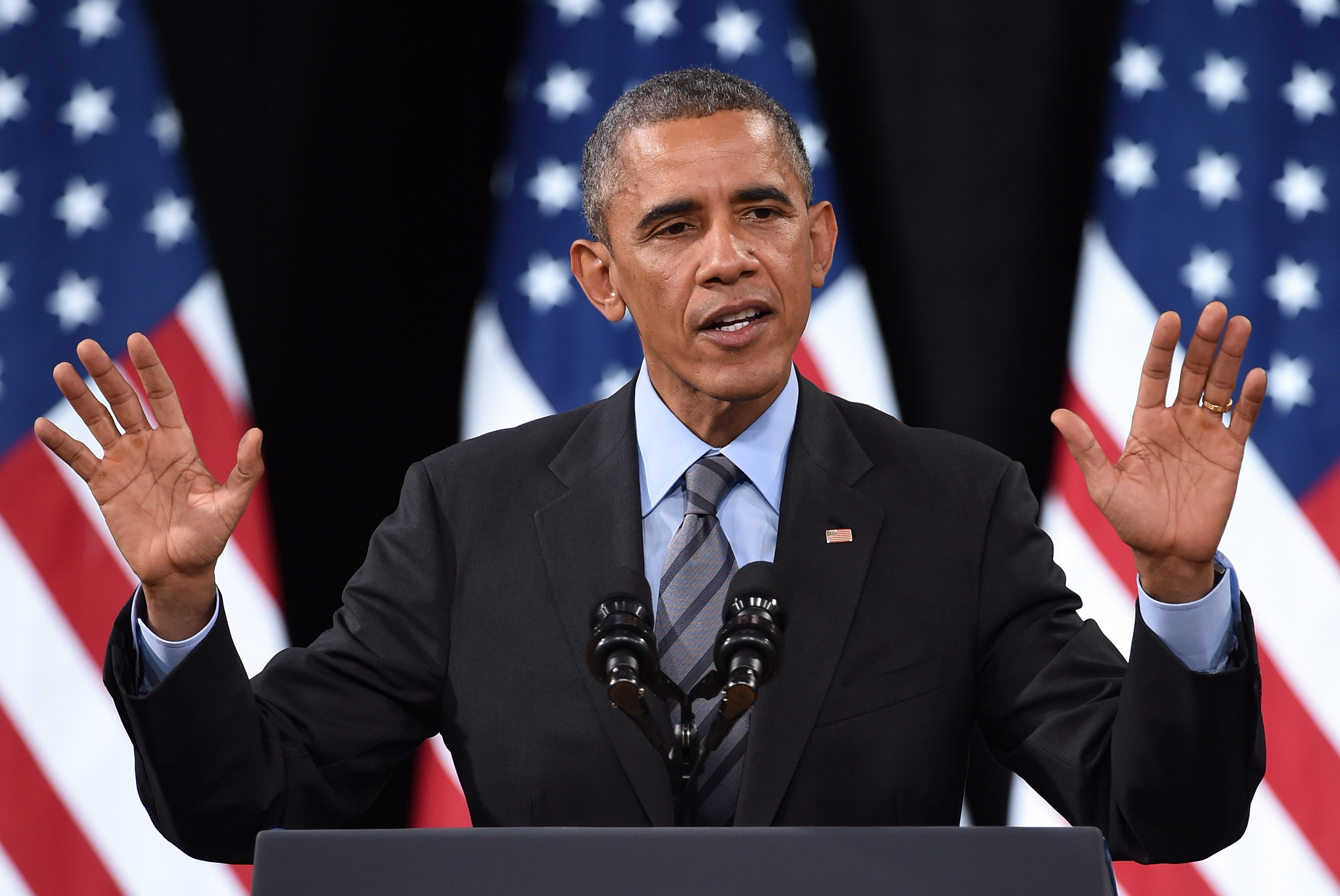 U.S. President Barack Obama speaks about his executive action on U.S. immigration policy on Nov. 21, 2014, in Las Vegas