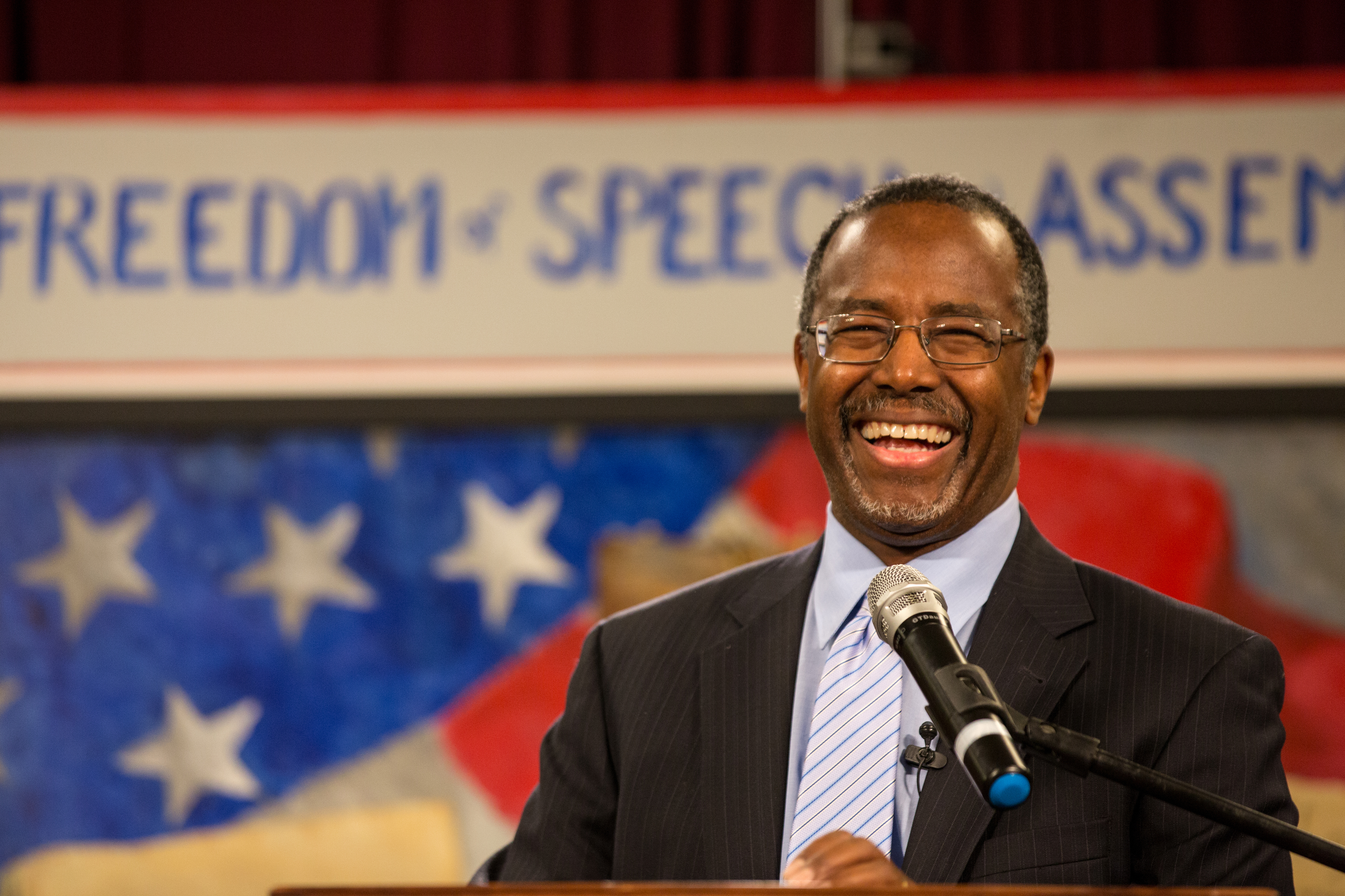 Ben Carson speaks at the South Carolina Tea Party Coalition convention on January 18, 2015 in Myrtle Beach, South Carolina.