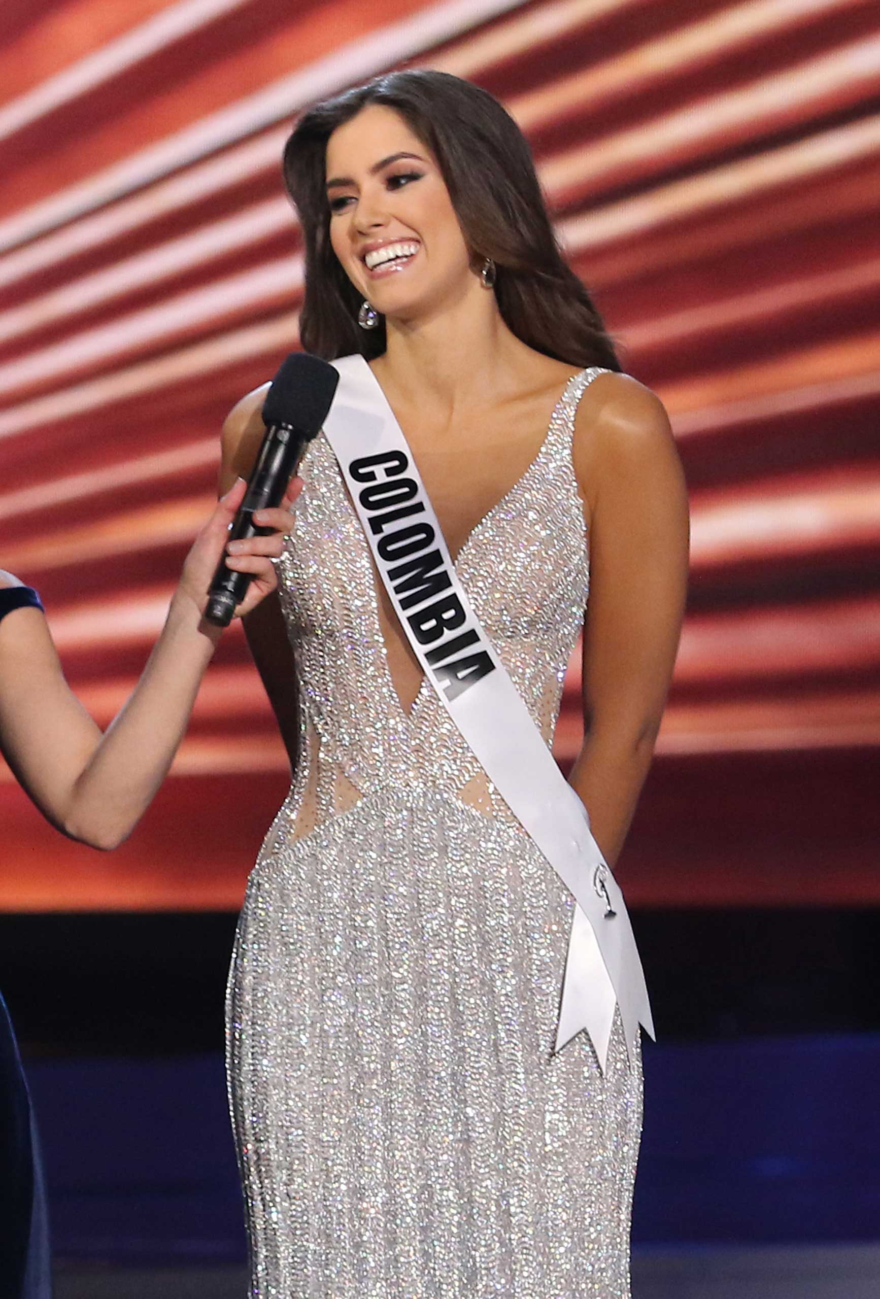 Paulina Vega prior to being crowned Miss Universe at the 63rd Annual Miss Universe Pageant in Miami on Jan. 25, 2015