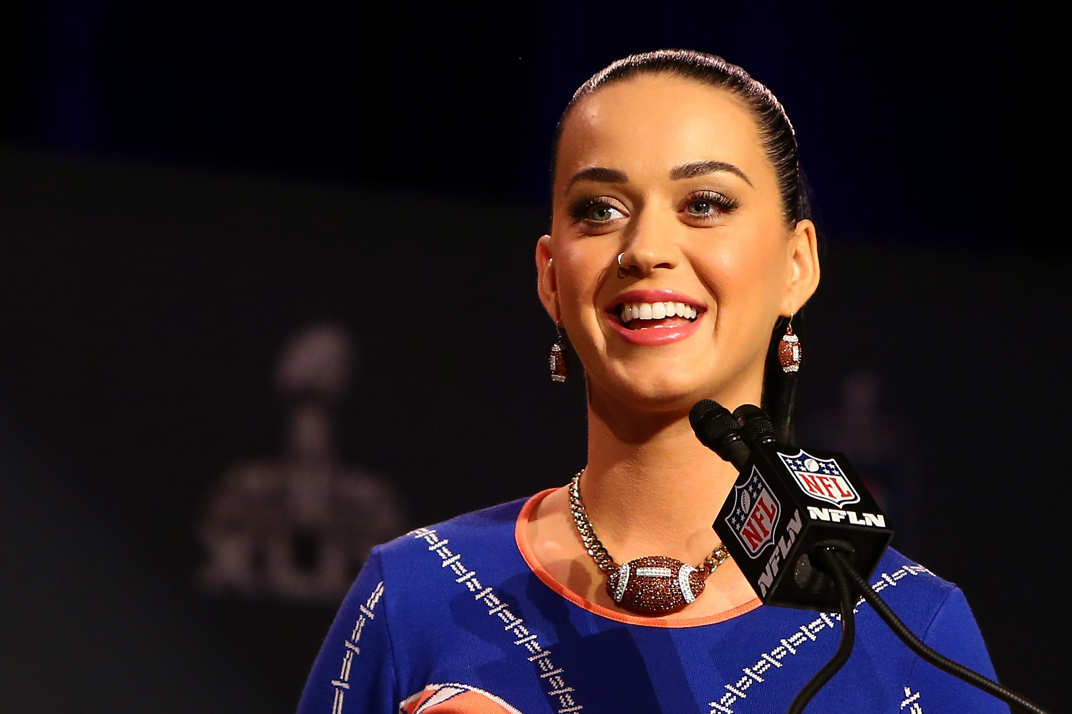Katy Perry at the Pepsi Super Bowl XLIX Halftime Show Press Conference  in Phoenix on Jan. 29, 2015