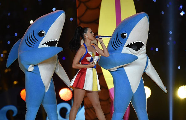 Katy Perry performs during the Super Bowl XLIX halftime show at University of Phoenix Stadium in Glendale, Ariz., on Feb. 1, 2015