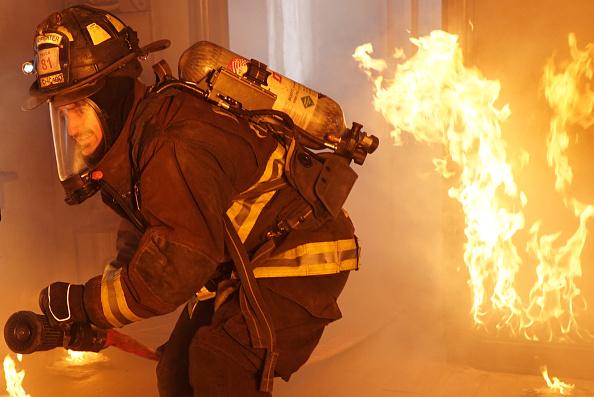 A still from Chicago Fire's episode  Headlong Toward Disaster
