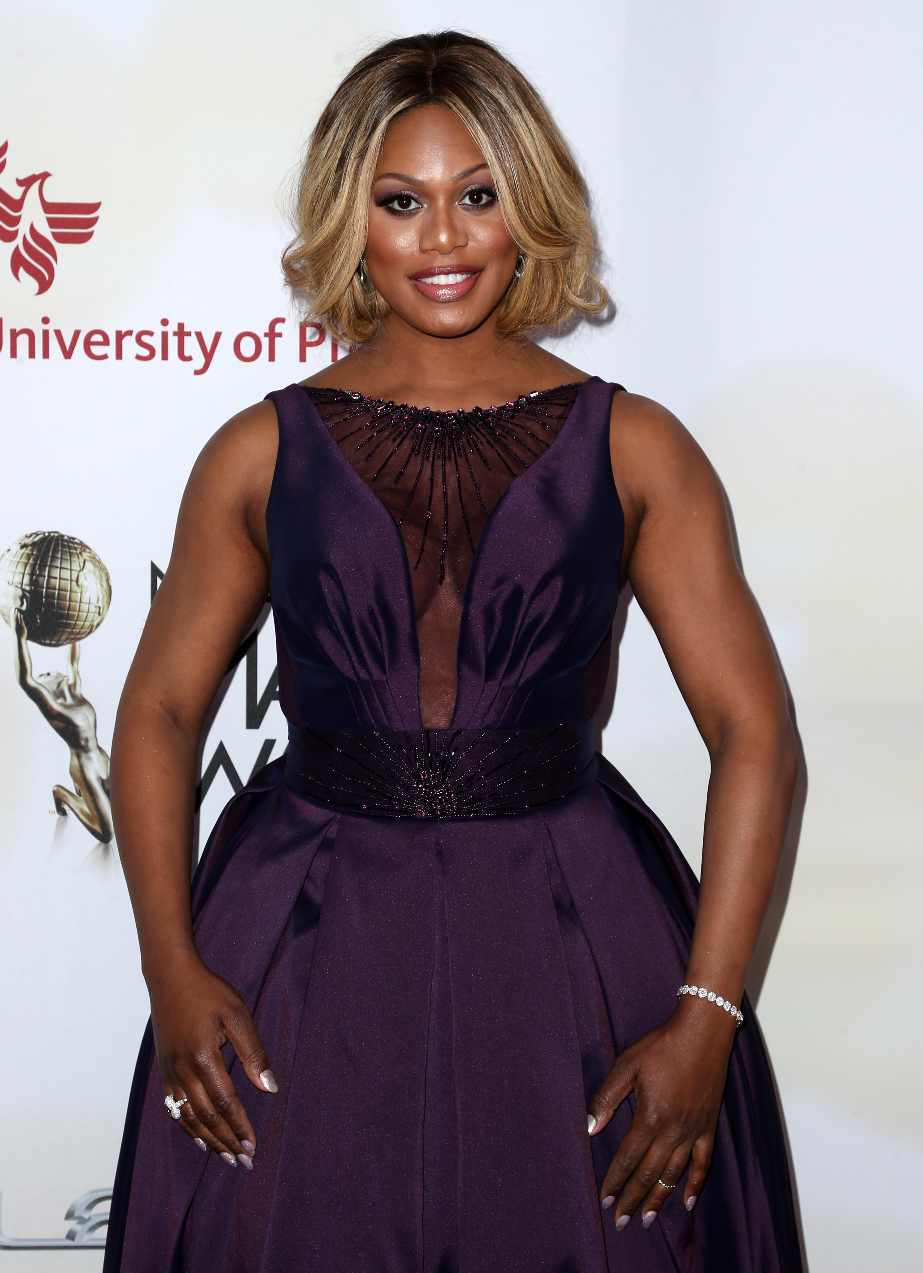 Actress Laverne Cox attends the 46th NAACP Image Awards  on Feb. 6, 2015 in Pasadena, Calif.