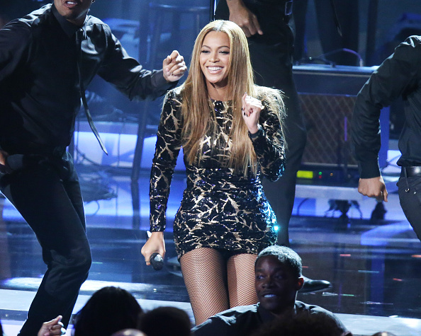 Beyonce performs onstage during the Stevie Wonder: Songs In The Key Of Life - An All-Star GRAMMY Salute held at Nokia Theatre L.A. Live on Feb. 10, 2015 in Los Angeles, Calif.
