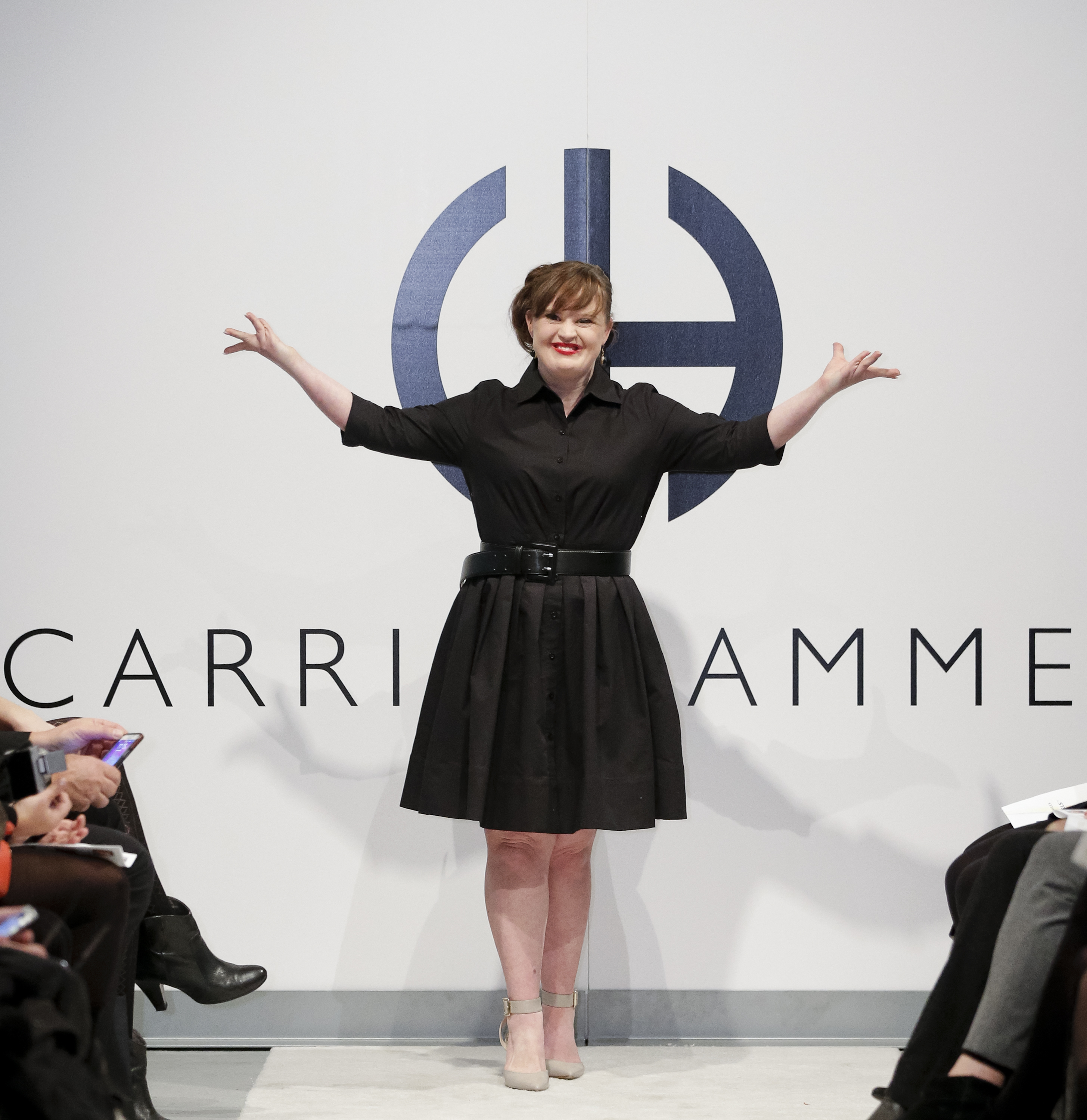Actress Jamie Brewer walks the runway during the Role Models Not Runway Models