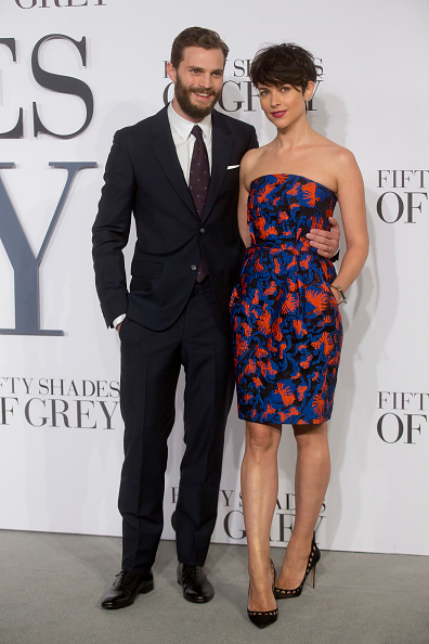 Jamie Dornan and wife Amelia Warner attends the UK Premiere of  Fifty Shades Of Grey  in London, England on Feb. 12, 2015.
