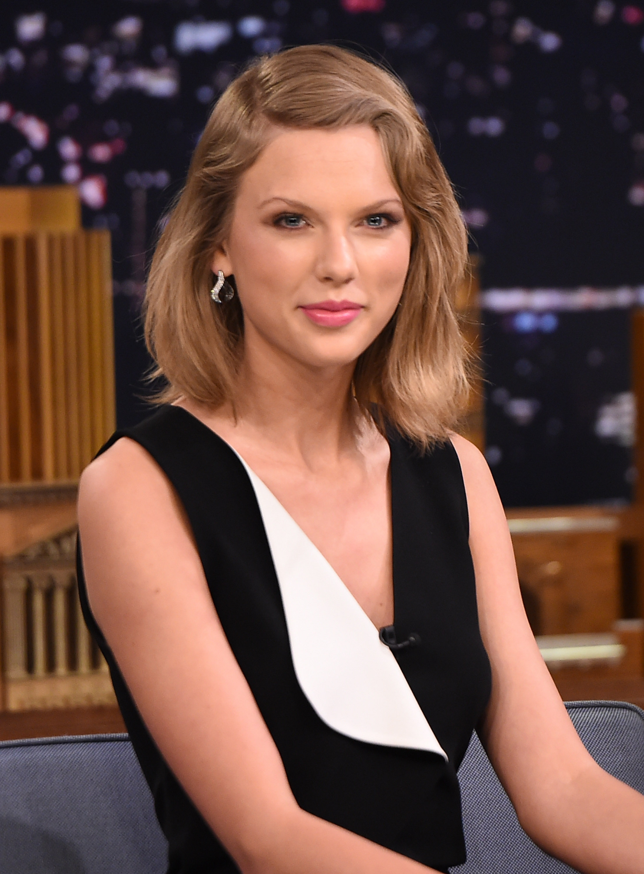 Taylor Swift visits  The Tonight Show Starring Jimmy Fallon  in New York City on Feb. 17, 2015.