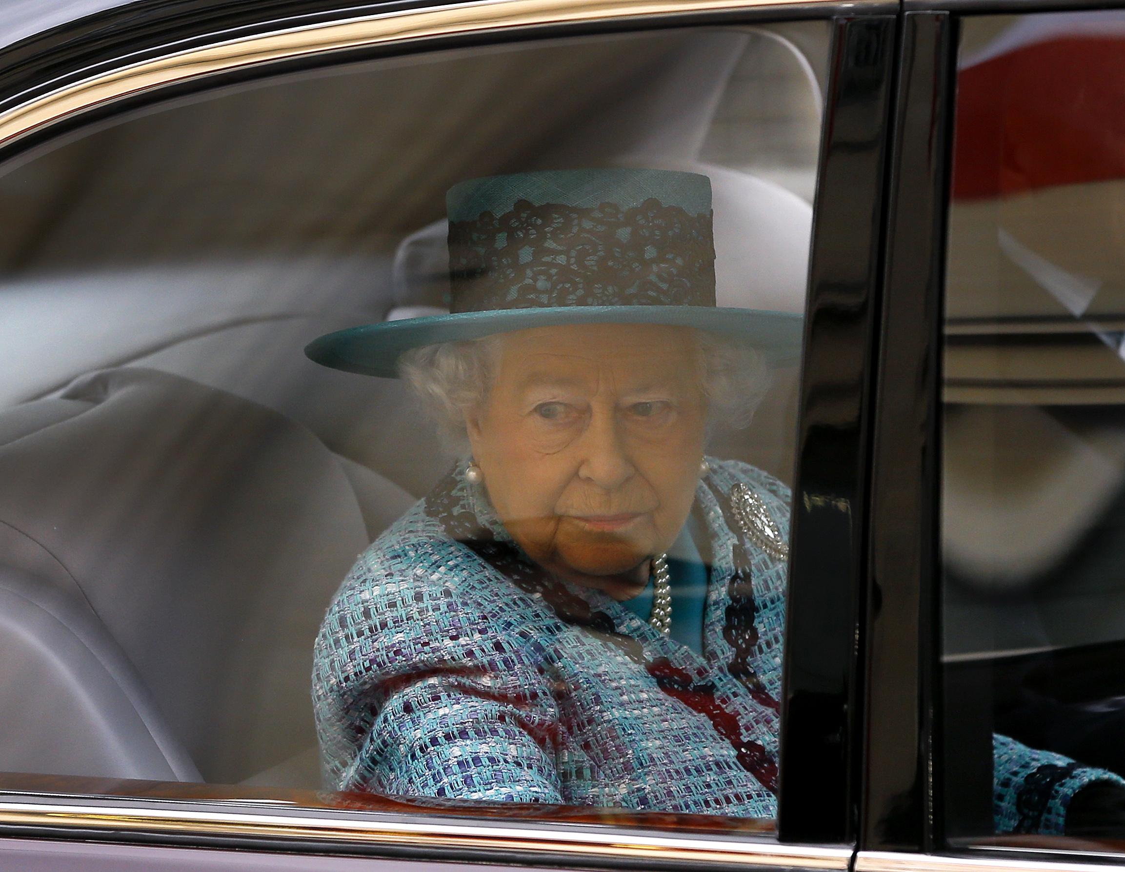 Queen Elizabeth II arrives to Canada House in London, England on Feb. 19, 2015.