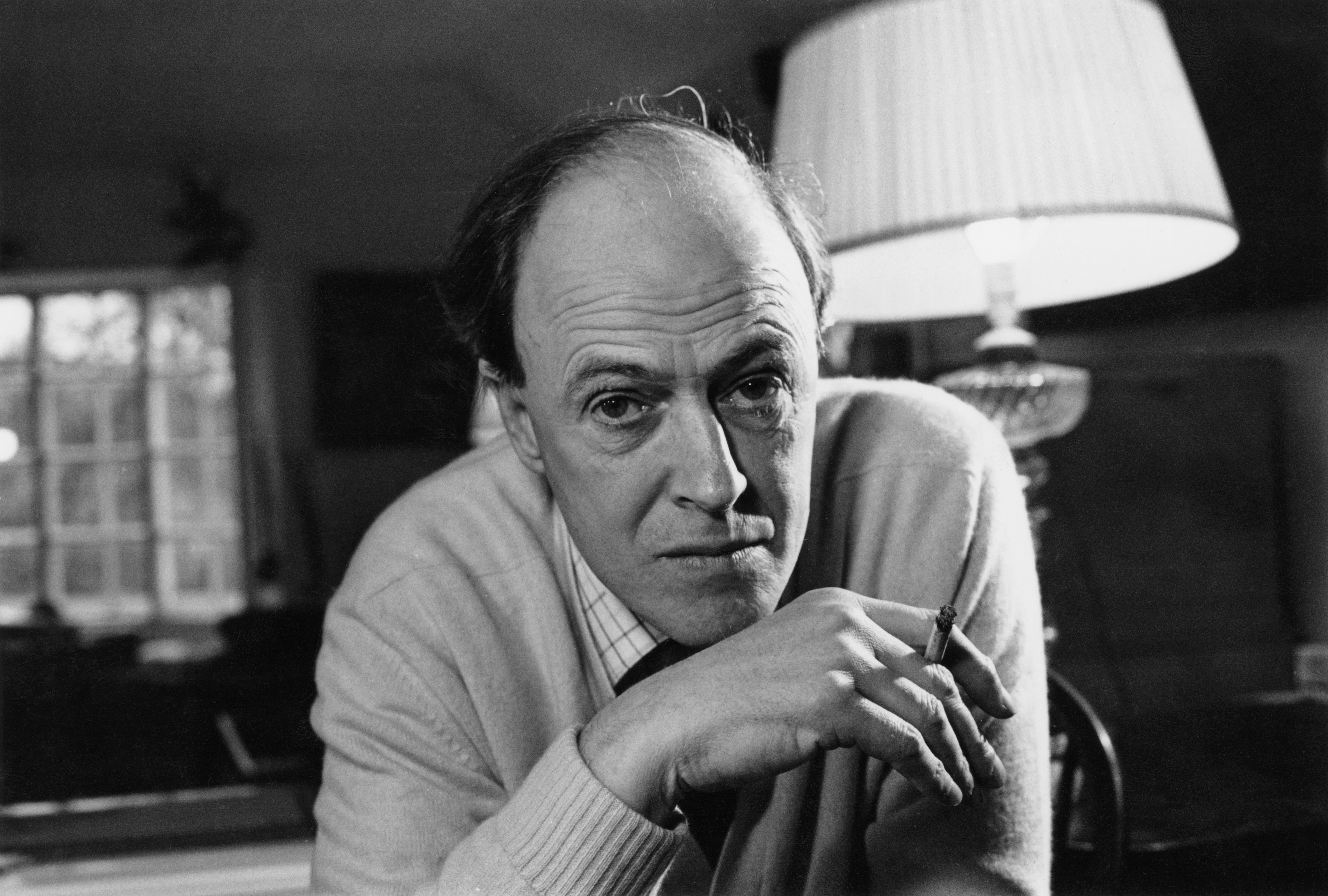 British writer Roald Dahl (1916 - 1990) on Dec. 11, 1971