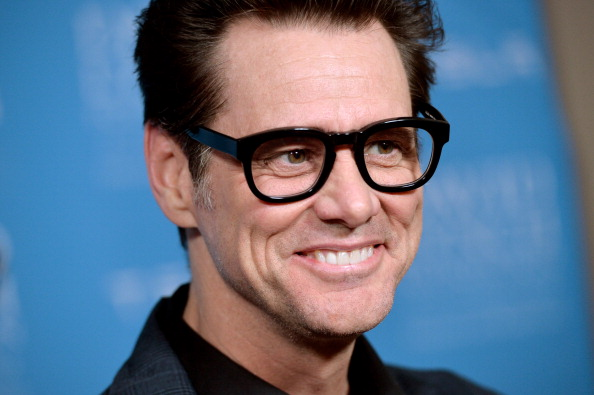 Jim Carrey arrives at the David Lynch Foundation Gala at the Beverly Wilshire Hotel in Los Angeles on Feb. 27, 2014