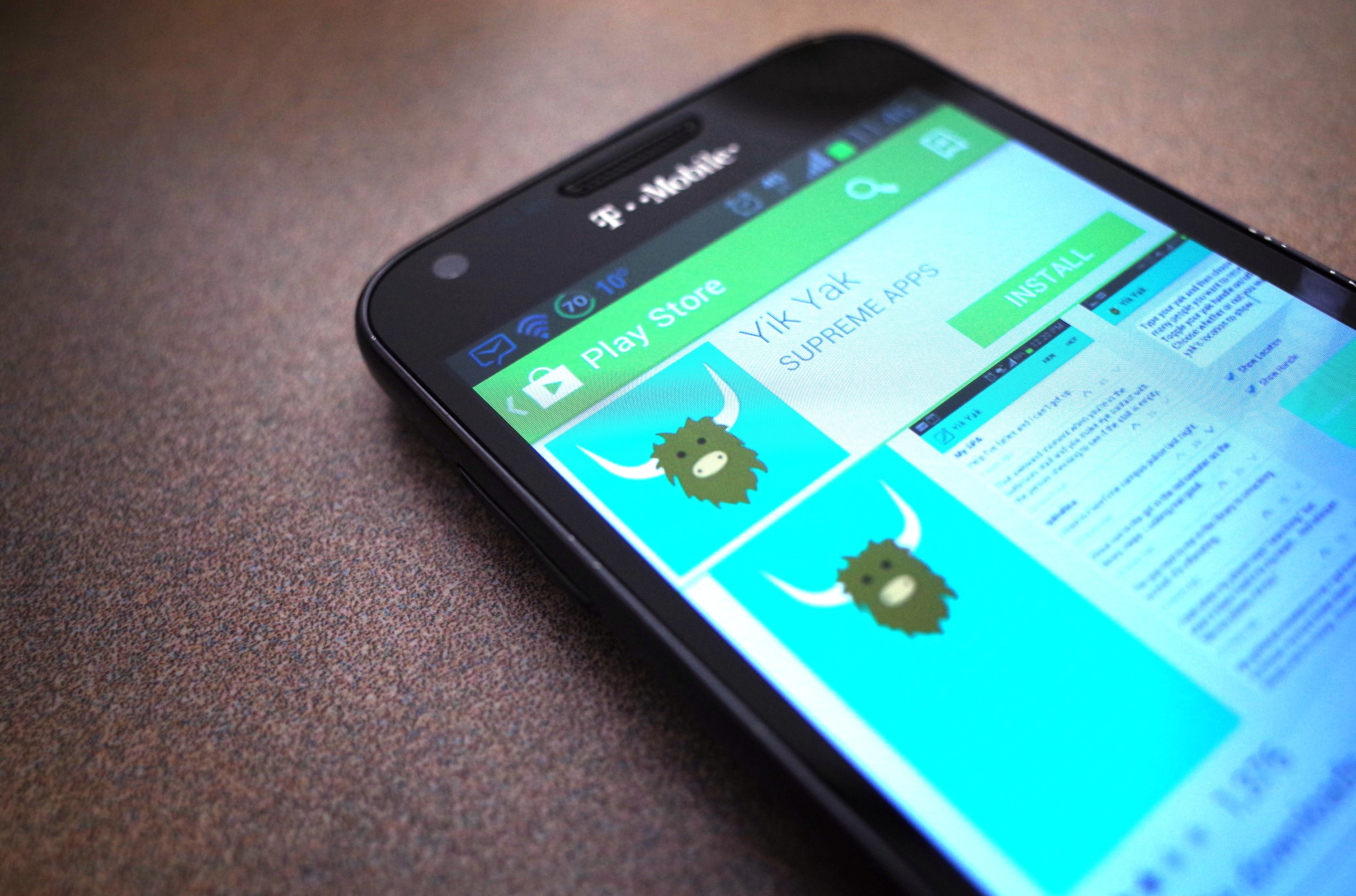 Yik Yak in the Google Play store.