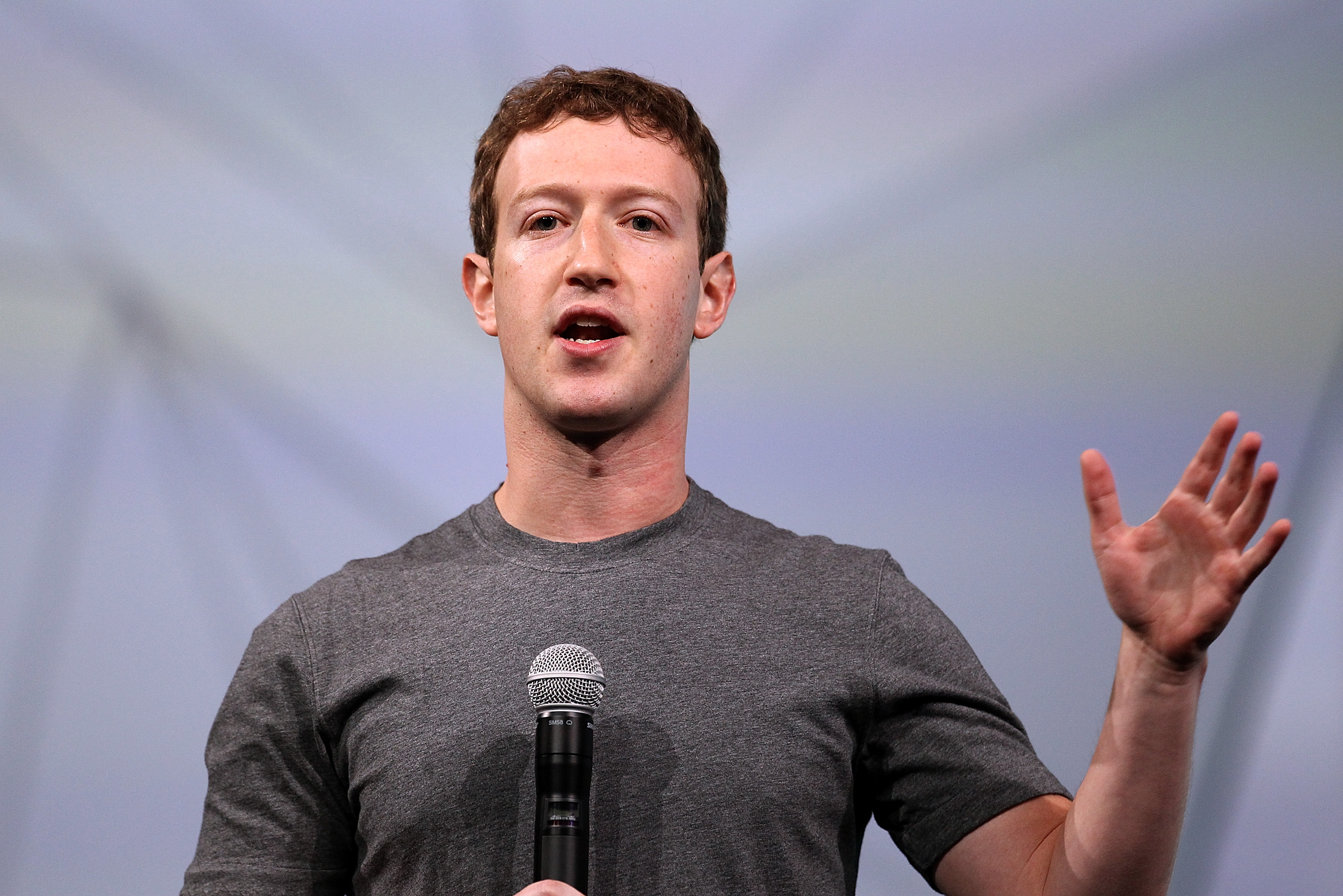 Facebook CEO Mark Zuckerberg delivers the opening keynote at the Facebook f8 conference on April 30, 2014 in San Francisco, California.