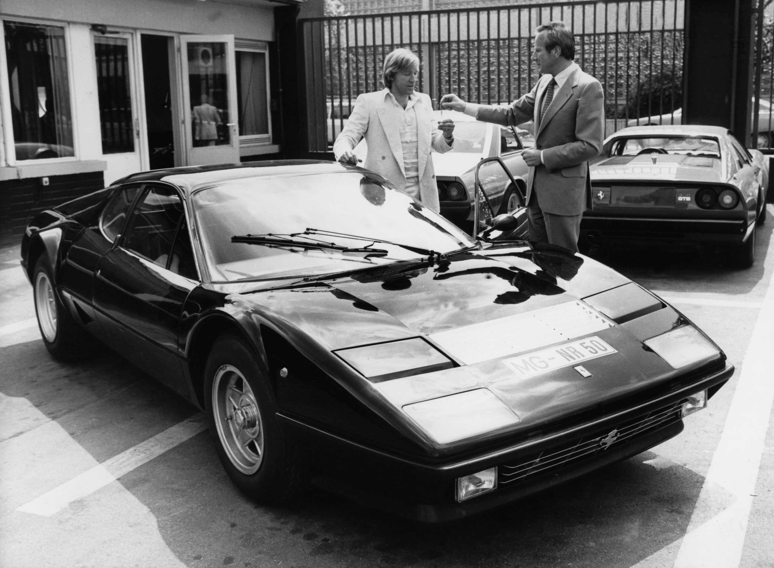 1976: The 512 Berlinetta Boxer was a mid-engined road car that Enzo Ferrari initially worried would be too difficult for his customers to handle.