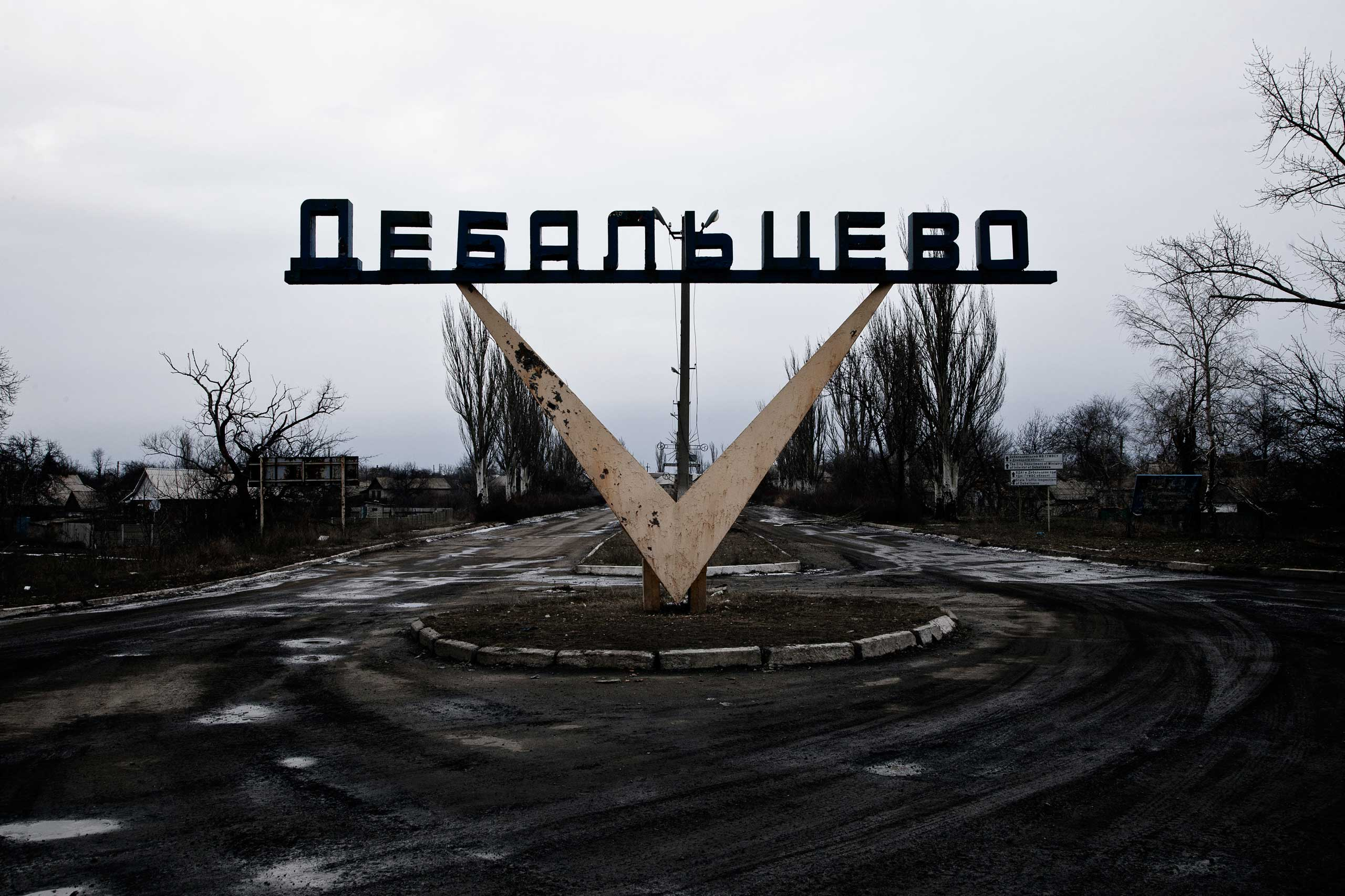 The embattled city of Debaltseve in eastern Ukraine was the site of a massive offensive by rebel forces to wrest it from Ukrainian control. Debaltseve is a strategic town that provides links between Donetsk and Lugansk, the two separatist dominated regions, Feb. 5, 2015.