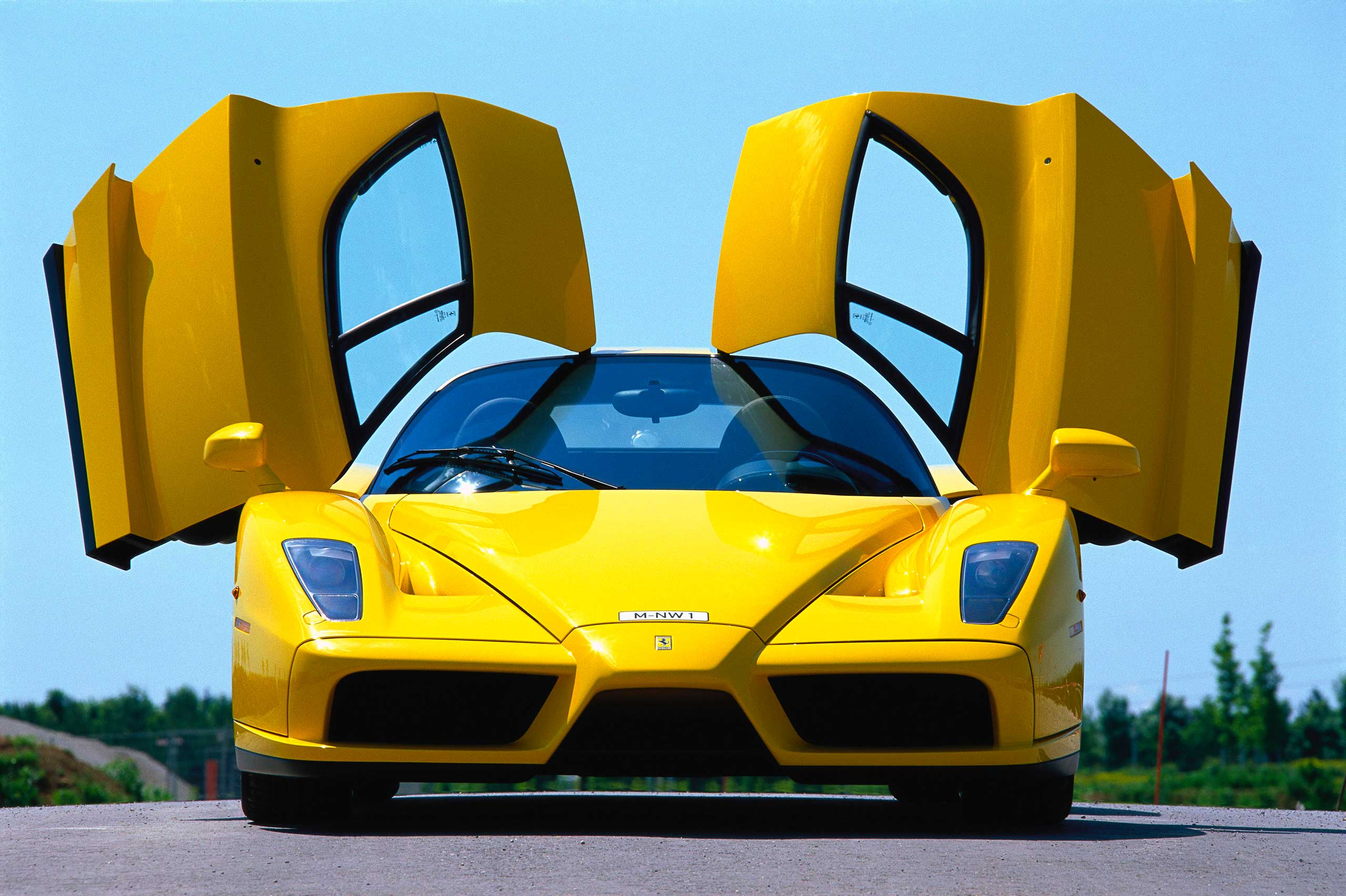 2002: The Enzo, named for Ferrari's founder, was built using formula-one technology.