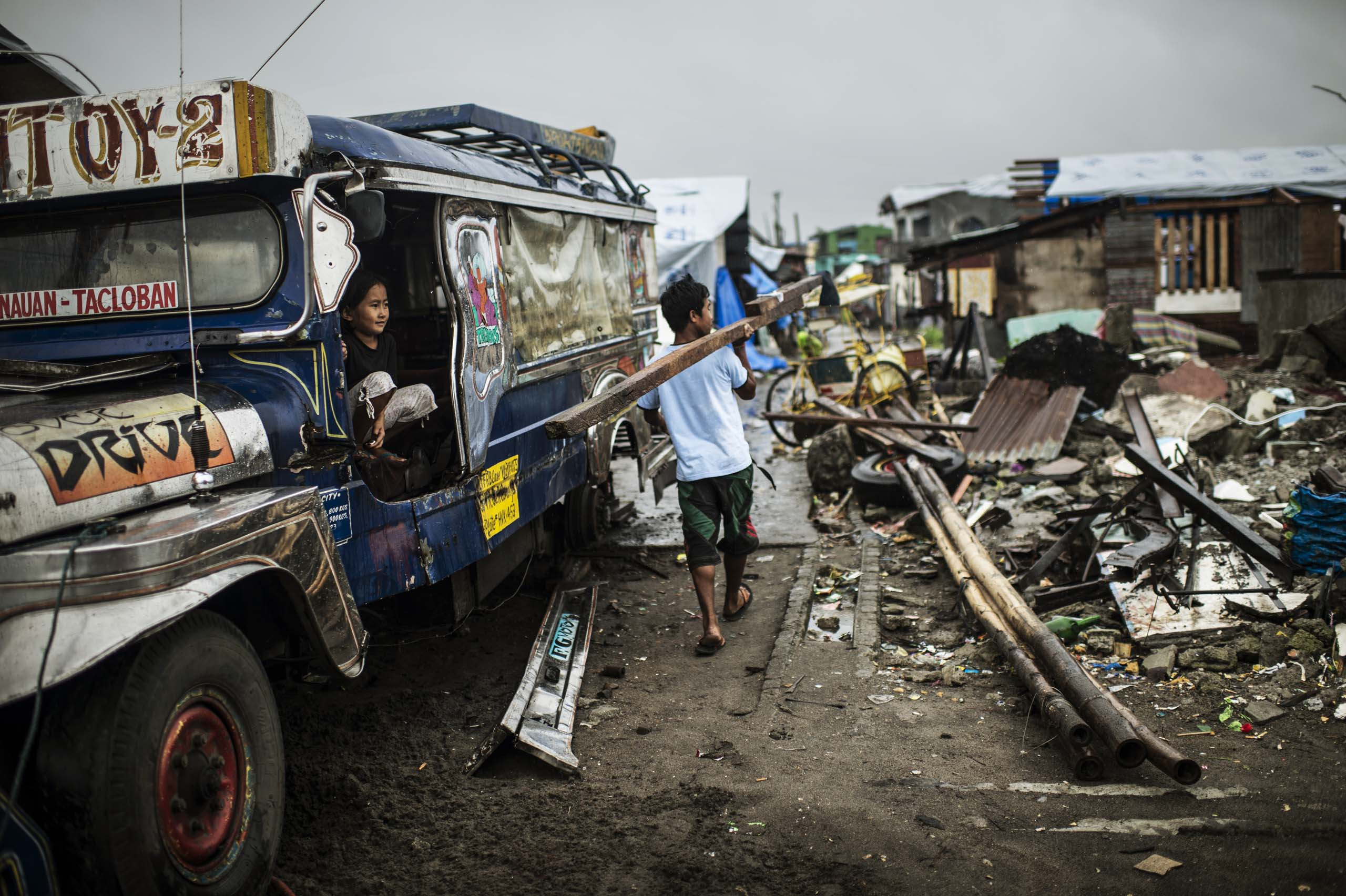 Jan. 13, 2014: The cleaning up of the debris and destruction near Palo,  outside of Tacloban,  more than two months after Typhoon Haiyan.