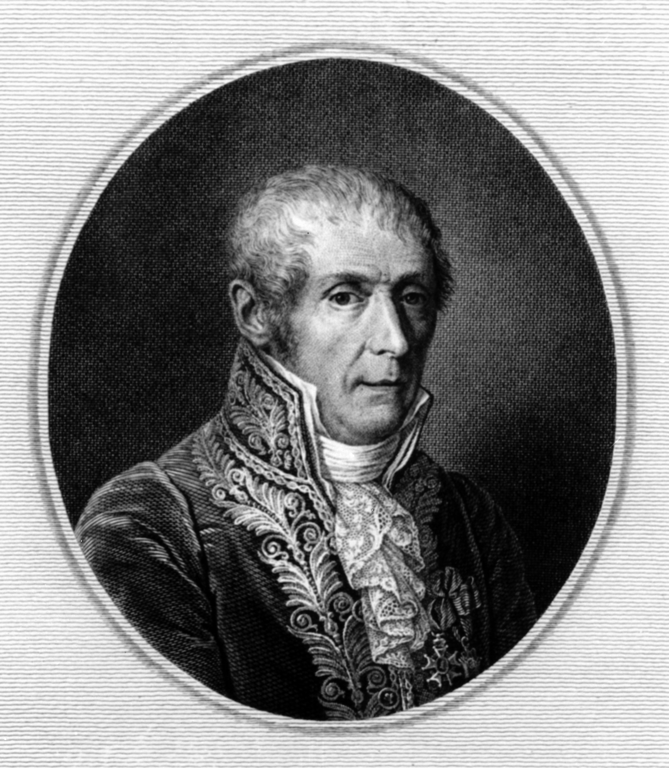 Undated picture of Italian physicist and inventor Alexander Volta (1745 - 1827)