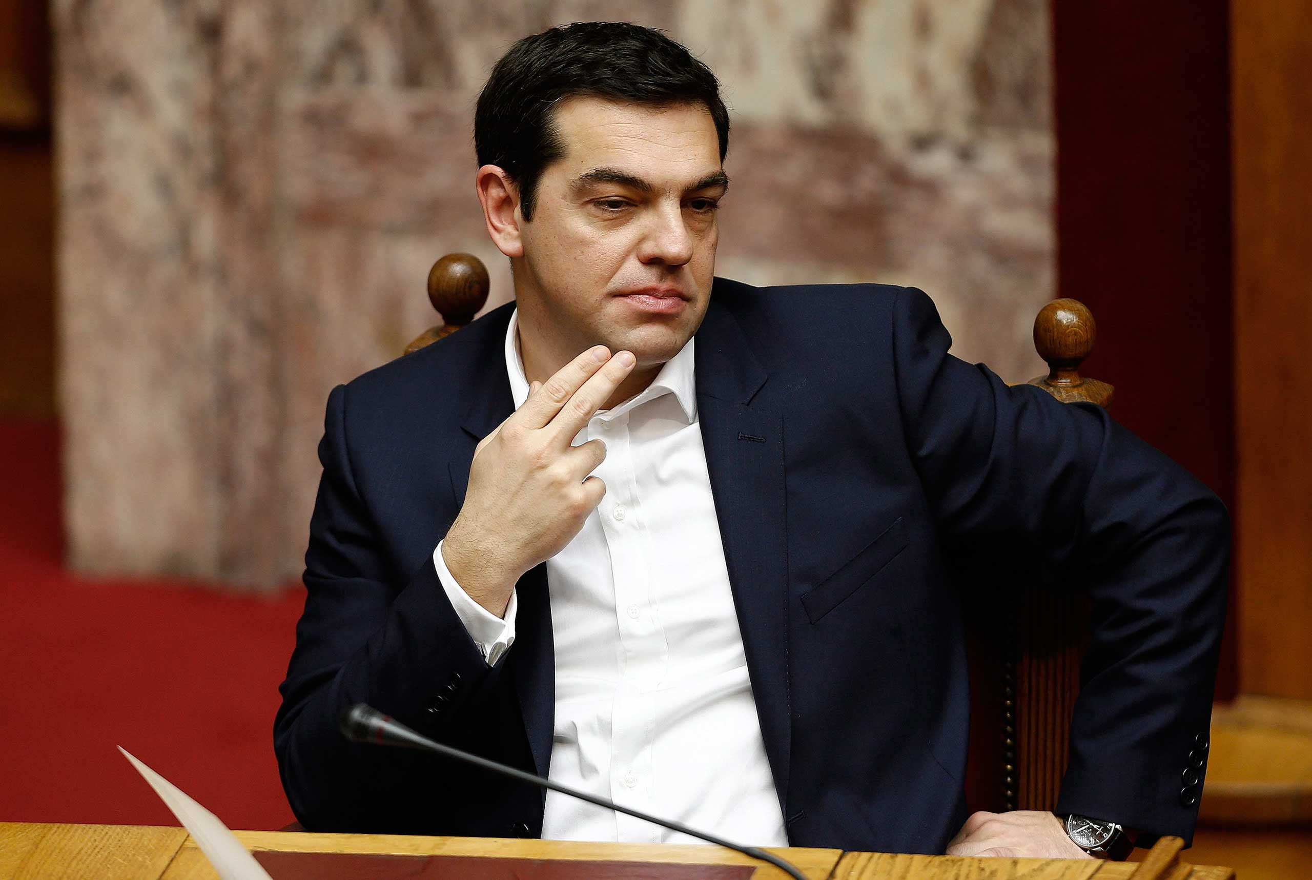 Greek Prime Minister Alexis Tsipras in Athens, Feb. 5,2015.