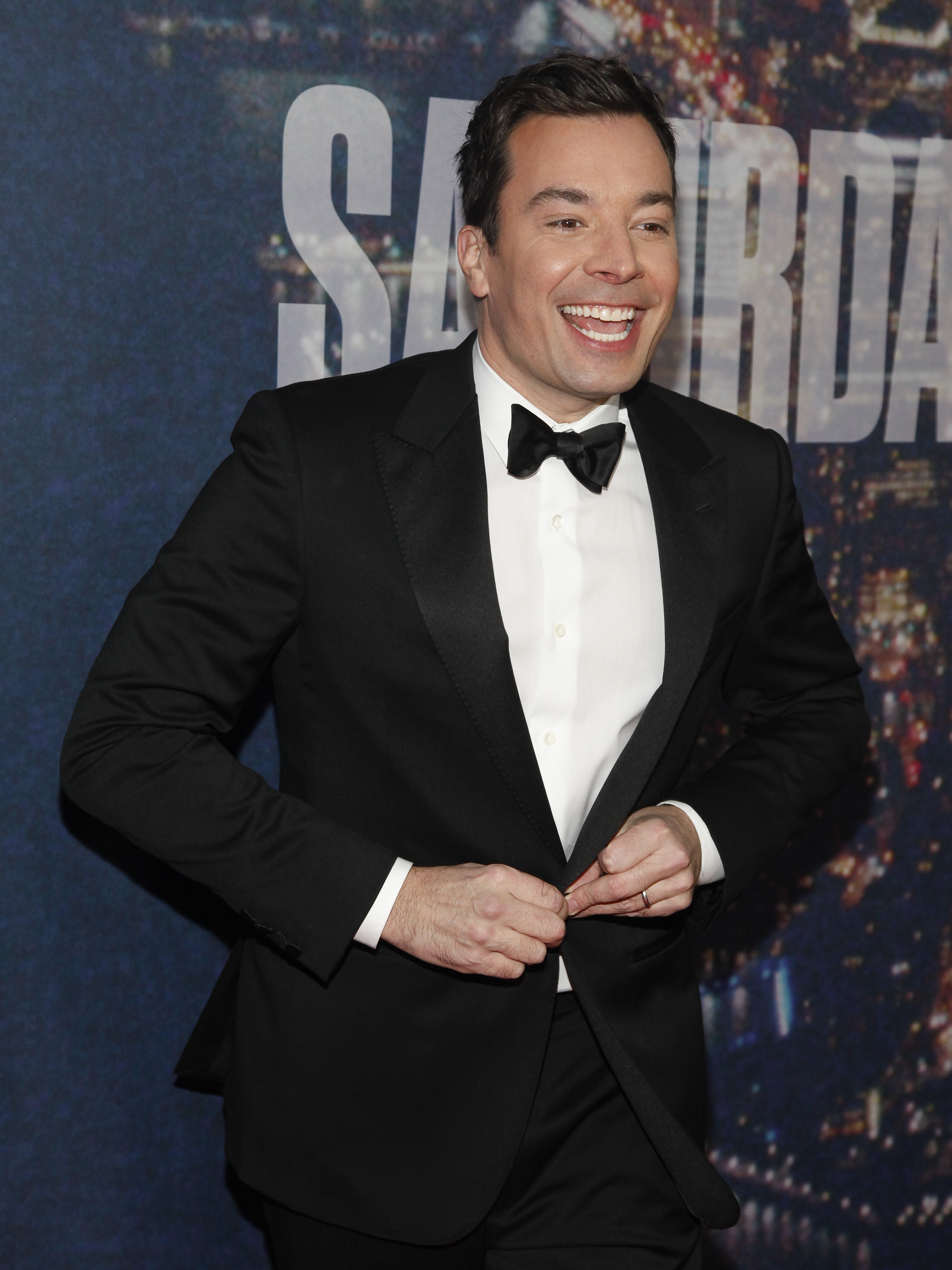 Jimmy Fallon attends the SNL 40th Anniversary Special at Rockefeller Plaza in New York City on Feb. 15, 2015.
