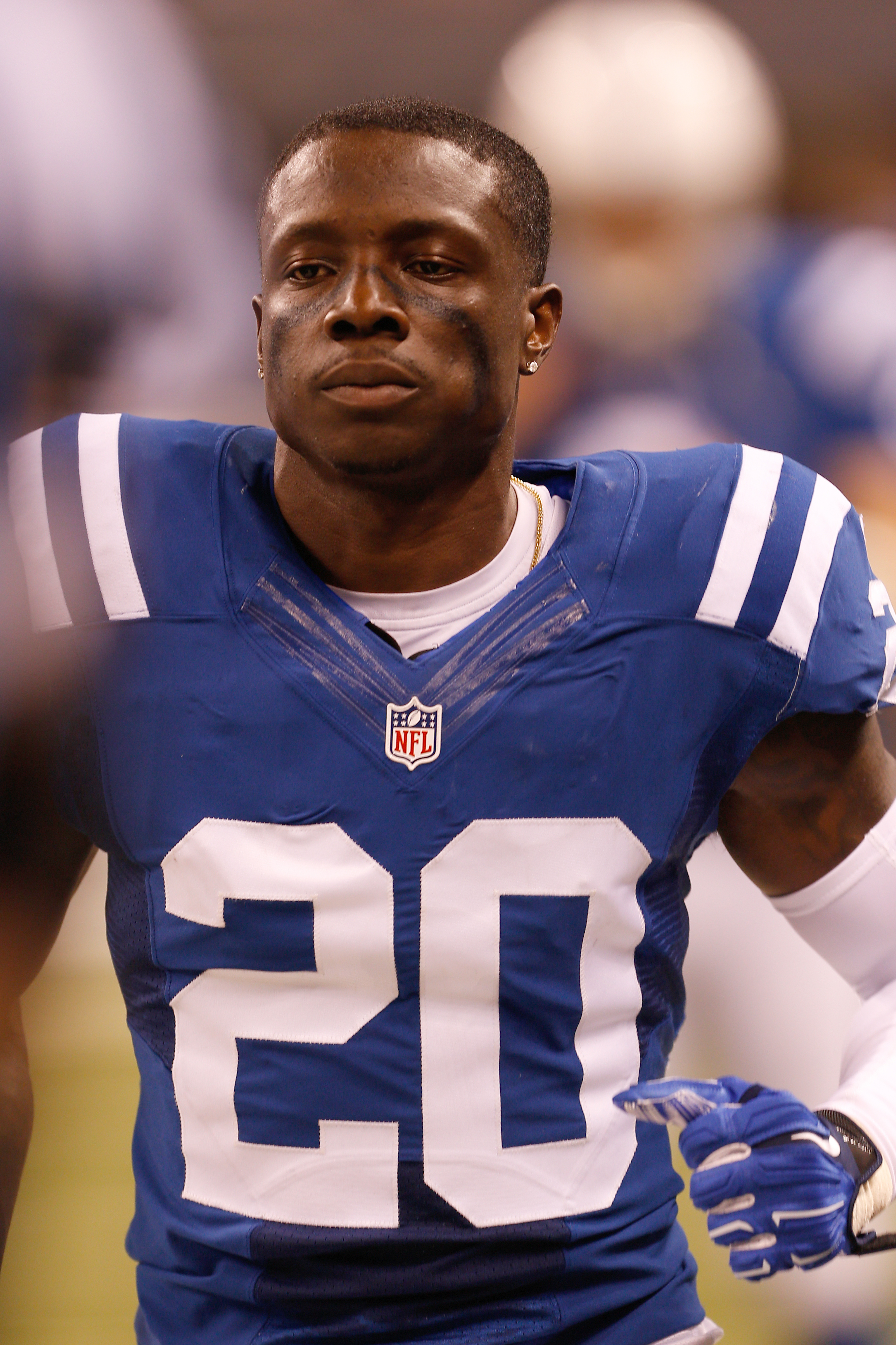 Indianapolis Colts cornerback Darius Butler looks on from the sidelines during the game against the Philadelphia Eagles in Indianapolis on Sept. 15, 2014.