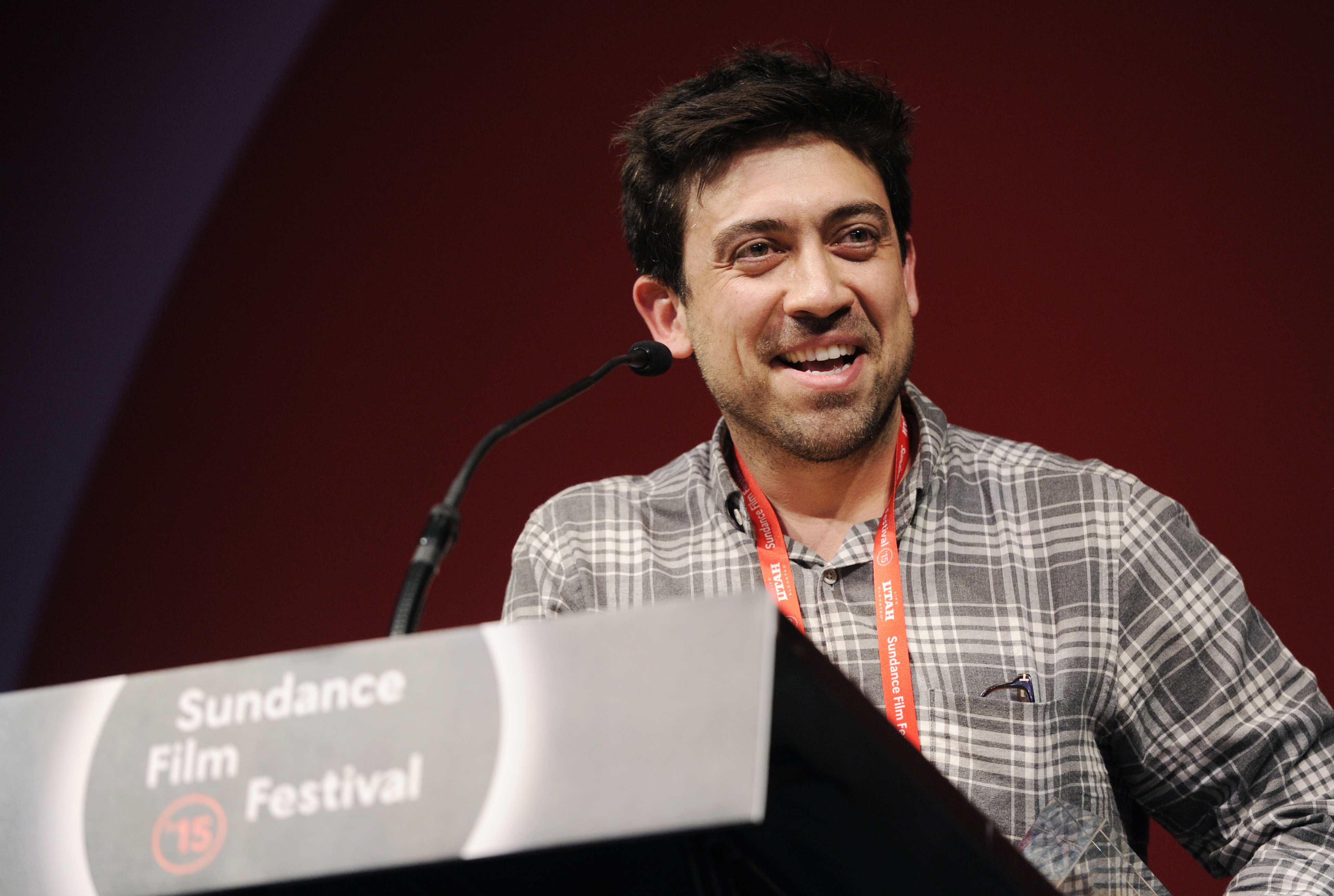 Alfonso Gomez-Rejon, director of  Me and Earl and the Dying Girl,  accepts the U.S. Dramatic Grand Jury Prize for the film during the 2015 Sundance Film Festival Awards Ceremony on Saturday, Jan. 31, 2015, in Park City, Utah.