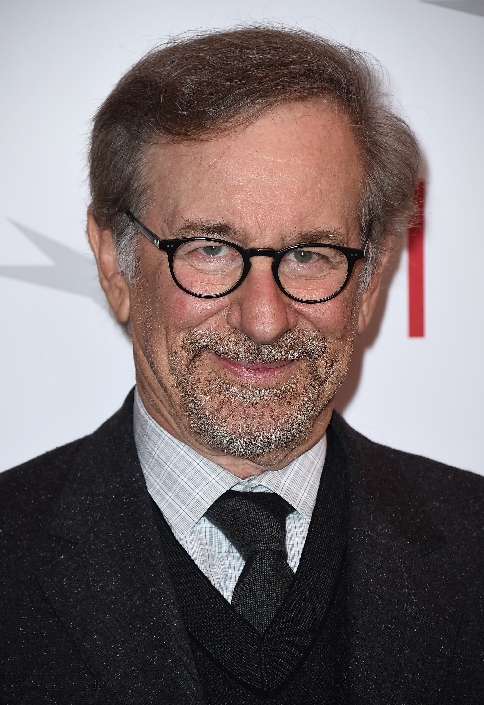 Steven Spielberg arrives at the AFI Awards in Los Angeles on Jan. 9, 2015.