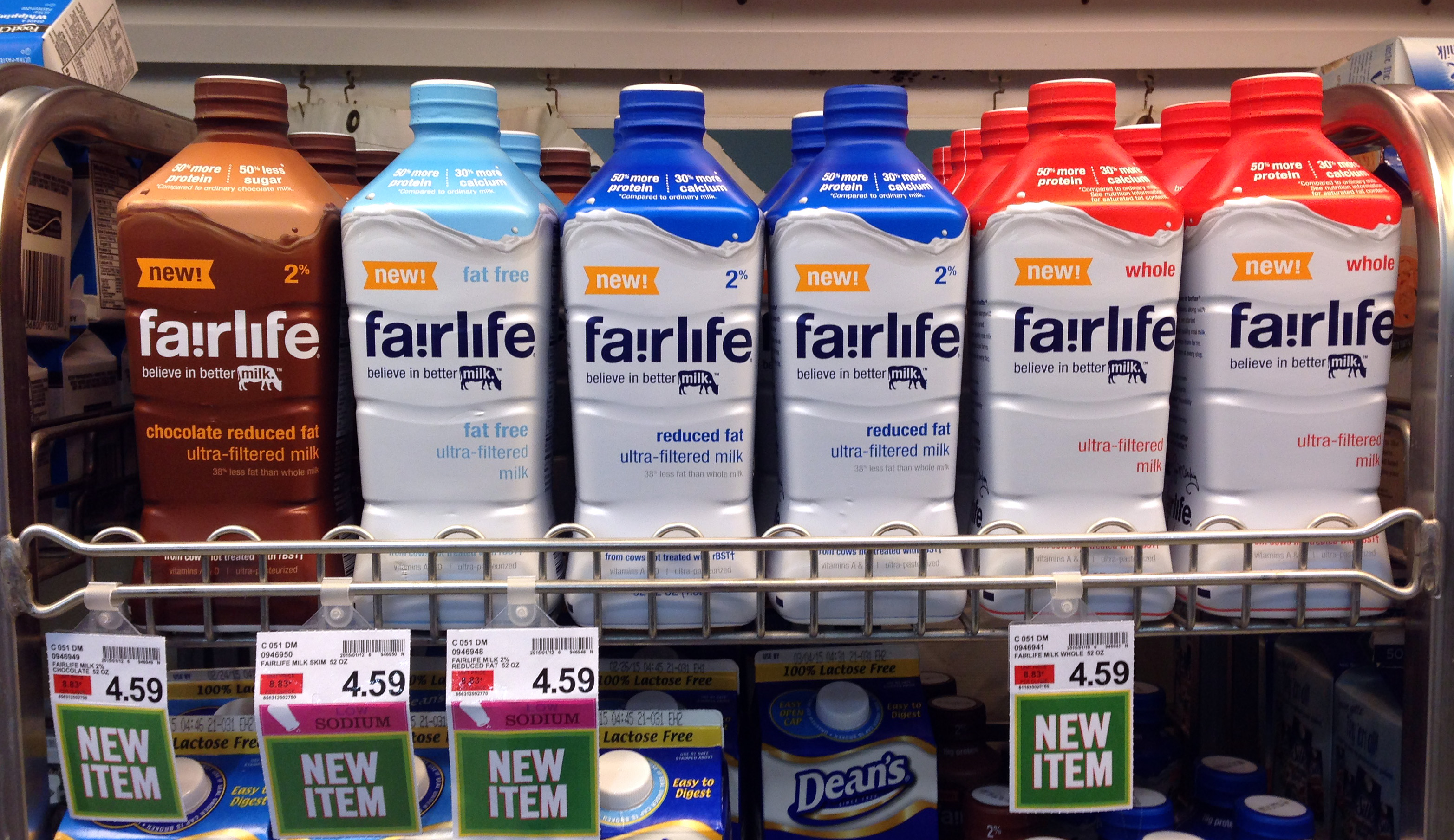 In this Friday, Jan. 23, 2015 photo, Fairlife milk products are on display in an Indianapolis grocery store.