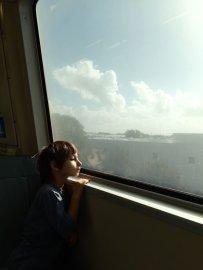 BART Train Toward San Francisco