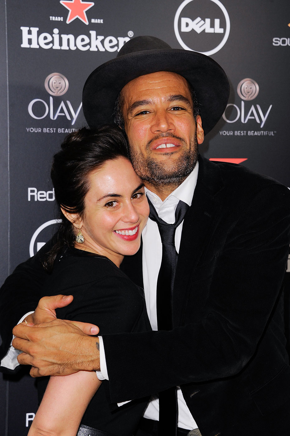 Ben Harper, right, and Jaclyn Matfus attend Red Light Management's Annual Grammy After-party at SkyBar at the Mondrian Los Angeles on Jan. 26, 2014 in West Hollywood, Calif.