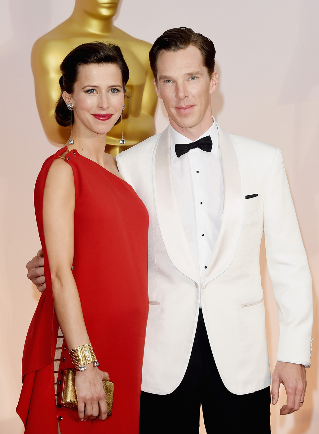 Benedict Cumberbatch, right, and Sophie Hunter  attend the 87th Annual Academy Awards on Feb. 22, 2015 in Hollywood, Calif.