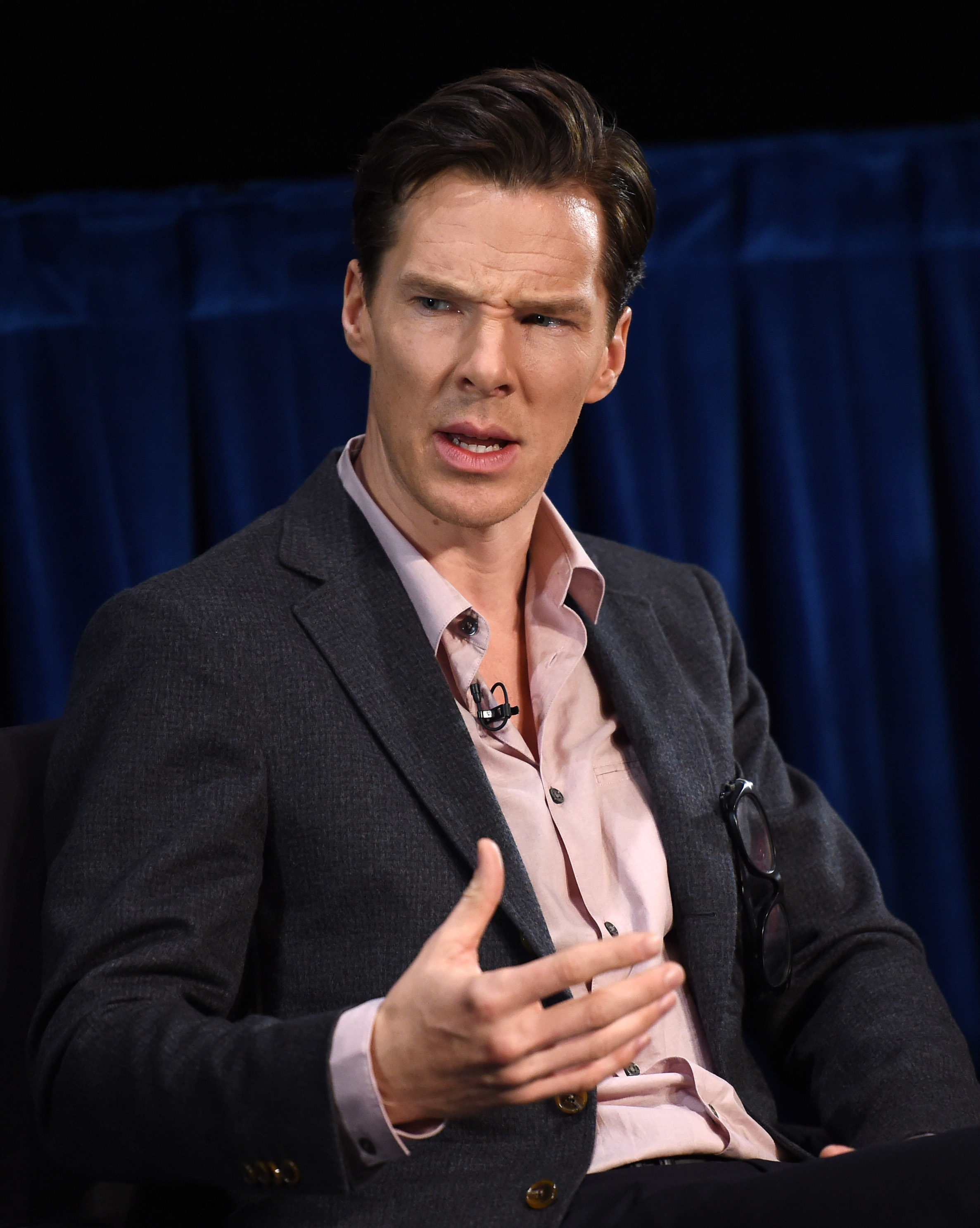 Actor Benedict Cumberbatch attends the Times Talks and TIFF In Los Angeles discussion of  The Imitation Game  at The Paley Center for Media on February 16, 2015 in Beverly Hills, California.